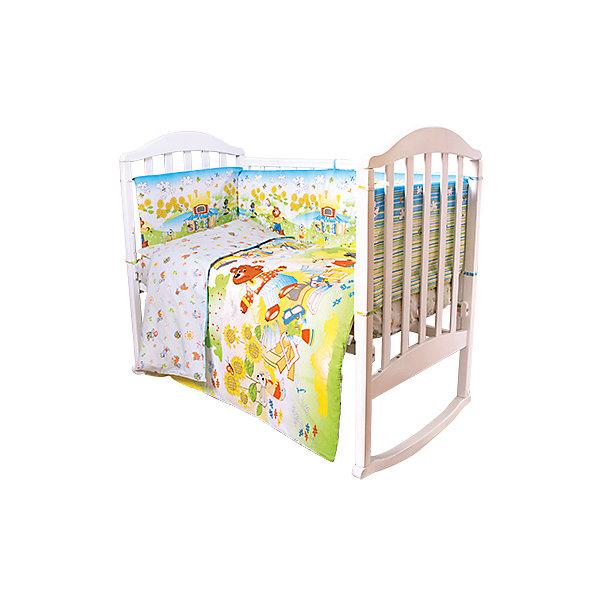 Постельное белье Теремок Сказки 6 пред., Baby Nice, салатовыйПостельное белье в кроватку новорождённого<br>Малыши требуют особой заботы. Постельное белье для них должно быть качественным и безопасным. Этот комплект обеспечит малышу комфорт и тепло в кроватке. Он украшен симпатичным принтом.<br>Набор сшит из натуральной дышащего материала - хлопка, мягкого и приятного на ощупь. Она не вызывает аллергии, что особенно важно для малышей. Также материал обеспечит хорошую терморегуляцию. Комплект сделан из высококачественных материалов, безопасных для ребенка.<br><br>Дополнительная информация:<br><br>цвет: салатовый;<br>материал: 100% хлопок, наполнитель - файбер;<br>комплектация: простыня 112 х 147 см, пододеяльник 112 х 147 см, наволочка 40 х 60, борт( 120х35-2 шт., 60х35-2 шт.), одеяло 110 х 140 см, подушка 40 х 60 см.;<br>принт.<br><br>Постельное белье Теремок Сказки 6 пред., от компании Baby Nice можно купить в нашем магазине.<br><br>Ширина мм: 250<br>Глубина мм: 600<br>Высота мм: 450<br>Вес г: 1200<br>Возраст от месяцев: 0<br>Возраст до месяцев: 36<br>Пол: Унисекс<br>Возраст: Детский<br>SKU: 4941796
