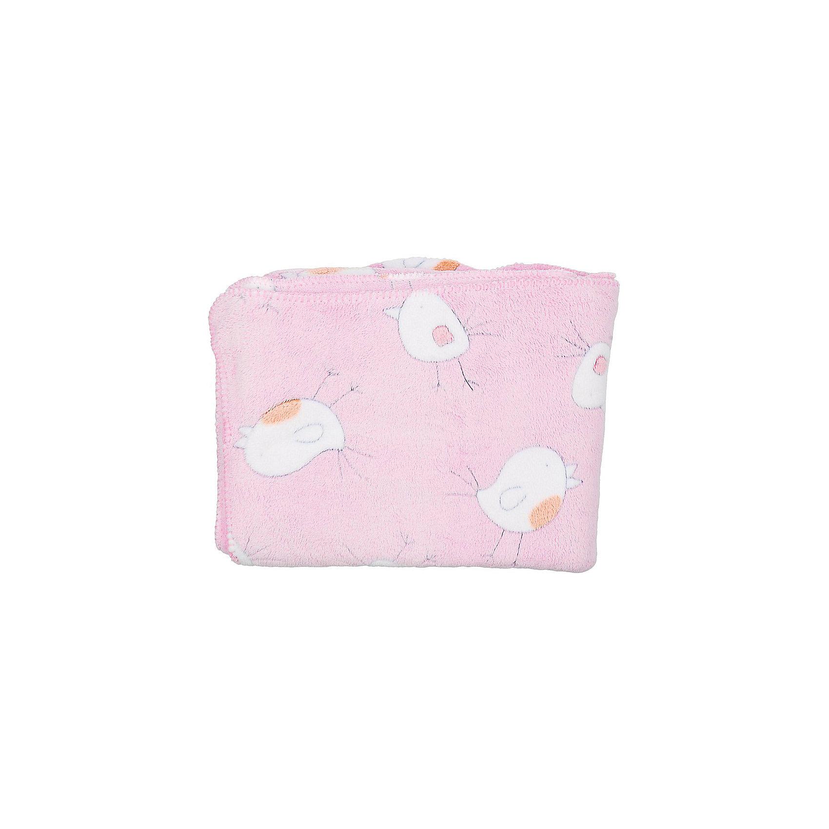Плед-покрывало Птичка 100х118  Velsoft 2-стороннее оверлок, Baby Nice, розовыйОдеяла, пледы<br>Малыши нуждаются в особом уходе. Постельные принадлежности для детей должны быть качественными и безопасными. Этот плед-покрывало разработан специально для малышей, оно обеспечивает комфорт на всю ночь. Плед украшен симпатичным принтом.<br>Пледик сшит из мягкого легкого  материала - велсофта, приятного на ощупь. Он не вызывает аллергии, что особенно важно для малышей. Покрывало обеспечит хорошую терморегуляцию, а значит - крепкий сон. Плед сделан из высококачественных материалов, безопасных для ребенка.<br><br>Дополнительная информация:<br><br>цвет: розовый;<br>материал: велсофт;<br>принт;<br>размер: 100 х 118 см;<br>обработка: оверлок;<br>двустороннее.<br><br>Плед-покрывало Птичка 100х118  Velsoft 2-стороннее оверлок,  от компании Baby Nice можно купить в нашем магазине.<br><br>Ширина мм: 10<br>Глубина мм: 20<br>Высота мм: 10<br>Вес г: 300<br>Возраст от месяцев: 0<br>Возраст до месяцев: 36<br>Пол: Унисекс<br>Возраст: Детский<br>SKU: 4941801