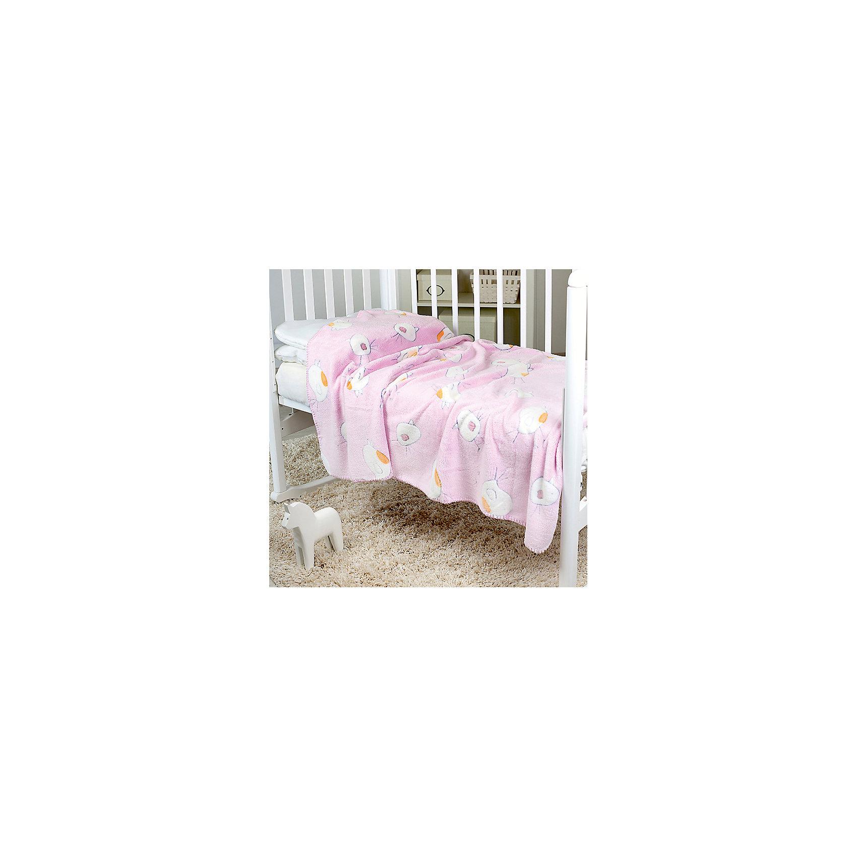Плед-покрывало Птичка 100х150 Velsoft 2-стороннее оверлок, Baby Nice, розовыйОдеяла, пледы<br>Малыши нуждаются в особом уходе. Постельные принадлежности для детей должны быть качественными и безопасными. Этот плед-покрывало разработан специально для малышей, оно обеспечивает комфорт на всю ночь. Плед украшен симпатичным принтом.<br>Пледик сшит из мягкого легкого  материала - велсофта, приятного на ощупь. Он не вызывает аллергии, что особенно важно для малышей. Покрывало обеспечит хорошую терморегуляцию, а значит - крепкий сон. Плед сделан из высококачественных материалов, безопасных для ребенка.<br><br>Дополнительная информация:<br><br>цвет: розовый;<br>материал: велсофт;<br>принт;<br>размер: 100 х 150 см;<br>обработка: оверлок;<br>двустороннее.<br><br>Плед-покрывало Птичка 100х150 Velsoft 2-стороннее оверлок,  от компании Baby Nice можно купить в нашем магазине.<br><br>Ширина мм: 10<br>Глубина мм: 20<br>Высота мм: 10<br>Вес г: 400<br>Возраст от месяцев: 0<br>Возраст до месяцев: 36<br>Пол: Унисекс<br>Возраст: Детский<br>SKU: 4941803
