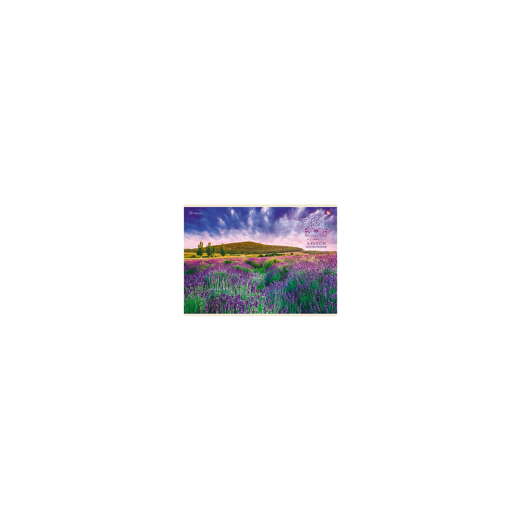 Альбом для рисования Лавандовое поле, 20лАльбом для рисования Лавандовое поле  - незаменимый помощник начинающим художникам. Удобное крепление и плотные страницы превратят процесс рисования в увлекательное и интересное занятие. Художественное творчество развивает внимание, усидчивость и воображение.<br><br>Дополнительная информация:<br>Внутренний блок: офсет 110 г/м2<br>Обложка: мелованный картон.<br>Количество листов: 20<br>Формат: А4<br>Крепление: склейка<br>Альбом для рисования Лавандовое поле вы можете приобрести в нашем интернет-магазине.<br><br>Ширина мм: 210<br>Глубина мм: 297<br>Высота мм: 8<br>Вес г: 147<br>Возраст от месяцев: 72<br>Возраст до месяцев: 144<br>Пол: Унисекс<br>Возраст: Детский<br>SKU: 4942430