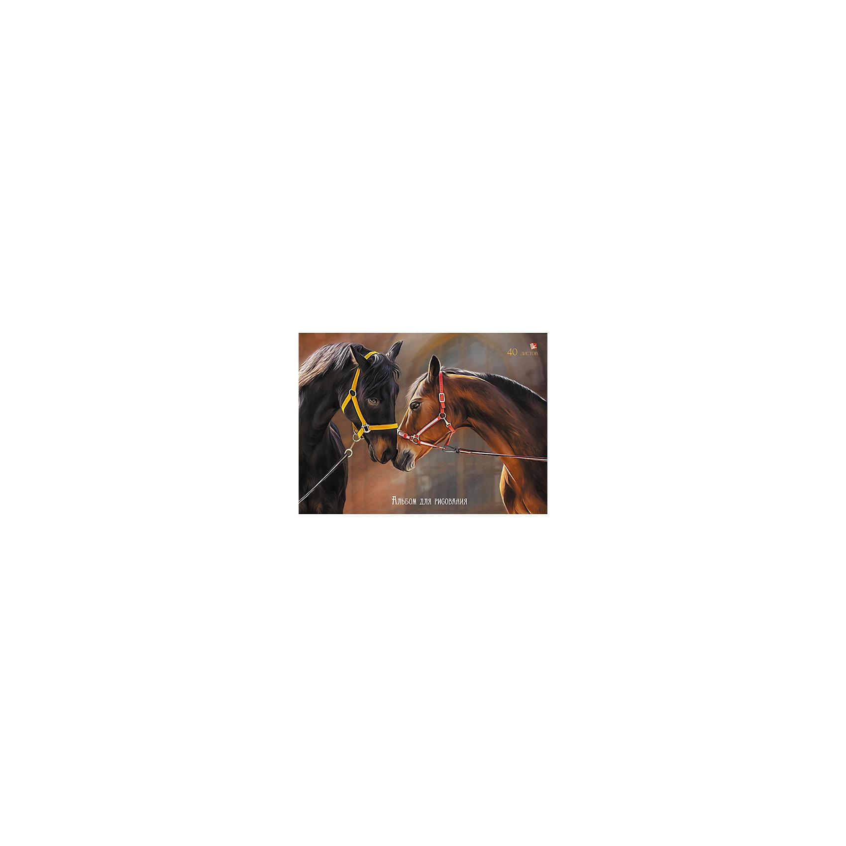 Альбом для рисования Нежность (лошади), 40лДетям, любящим рисовать, несомненно нужен хороший альбом. Нежность(лошади) - альбом, идеально подходящий вашему малышу. Красивая обложка привлечет внимание ребенка и вызовет интерес к созданию шедевров. Рисовать будет удобно, благодаря плотным листам с оптимальным скреплением. Творчество развивает аккуратность, усидчивость, художественные навыки. Замечательный выбор для первых работ юных художников!<br><br>Дополнительная информация:<br>Внутренний блок: офсет 110 г/м2<br>Обложка: мелованный картон<br>Количество листов: 40<br>Крепление: склейка<br>Альбом для рисования Нежность(лошади) можно купить в нашем интернет-магазине.<br><br>Ширина мм: 210<br>Глубина мм: 297<br>Высота мм: 13<br>Вес г: 269<br>Возраст от месяцев: 72<br>Возраст до месяцев: 144<br>Пол: Унисекс<br>Возраст: Детский<br>SKU: 4942439