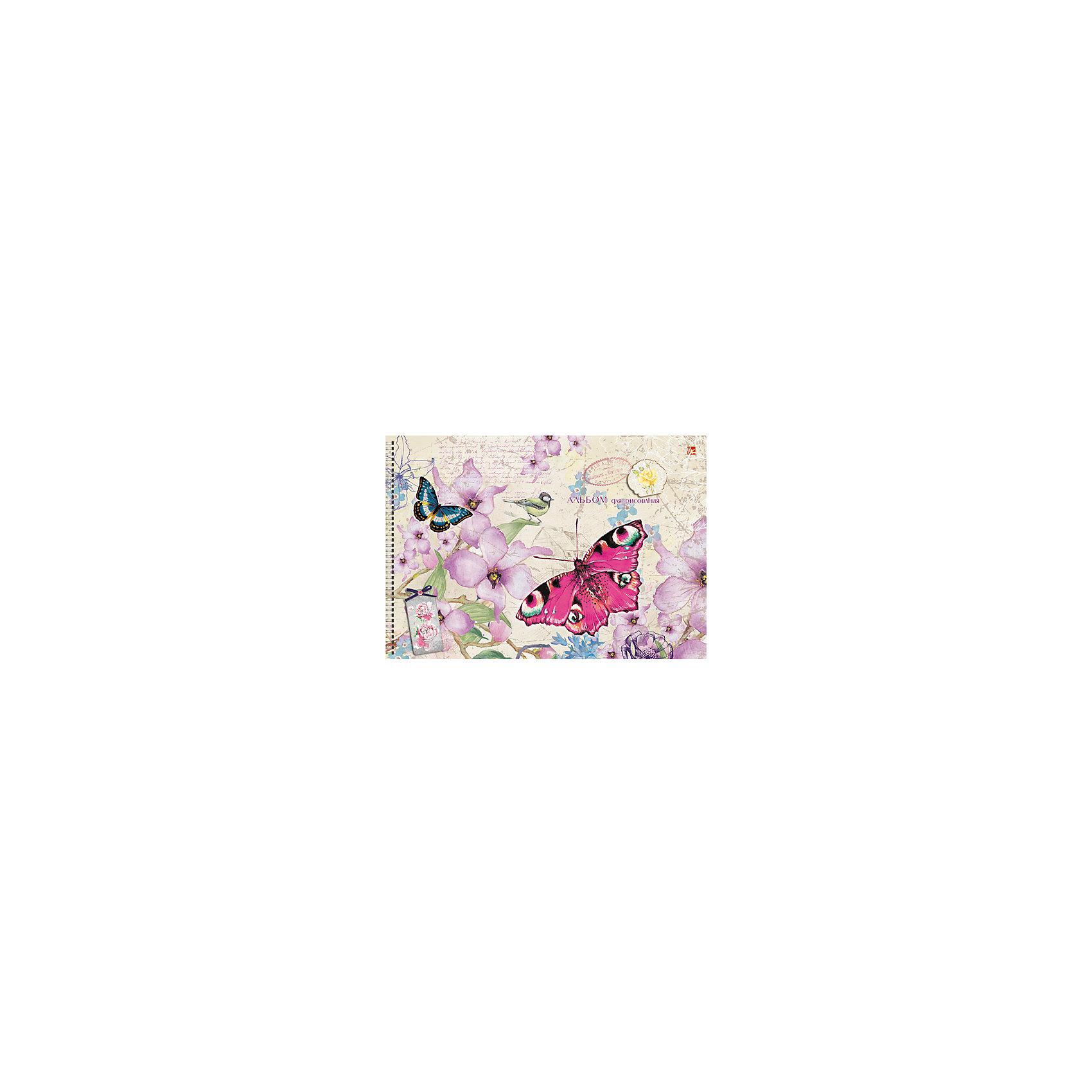 Альбом для рисования Цветы и бабочки, 40лАльбом для рисования Цветы и бабочки с очаровательным рисунком на обложке привлекут внимание и вызовут интерес к творчеству. Рисование хорошо развивает аккуратность, усидчивость и художественные навыки. Альбом из плотной бумаги с привлекательной обложкой - то, что нужно для первых картин будущего художника!<br><br>Дополнительная информация:<br>Количество листов: 40<br>Скрепление: скрепка<br>Обложка: мелованный картон, тиснение фольгой Золото, сплошной глянцевый лак<br>Бумага: офсет, плотностью 120 г/м2<br>Альбом для рисования Цветы и бабочки вы можете приобрести в нашем интернет-магазине.<br><br>Ширина мм: 210<br>Глубина мм: 297<br>Высота мм: 13<br>Вес г: 314<br>Возраст от месяцев: 72<br>Возраст до месяцев: 144<br>Пол: Унисекс<br>Возраст: Детский<br>SKU: 4942445