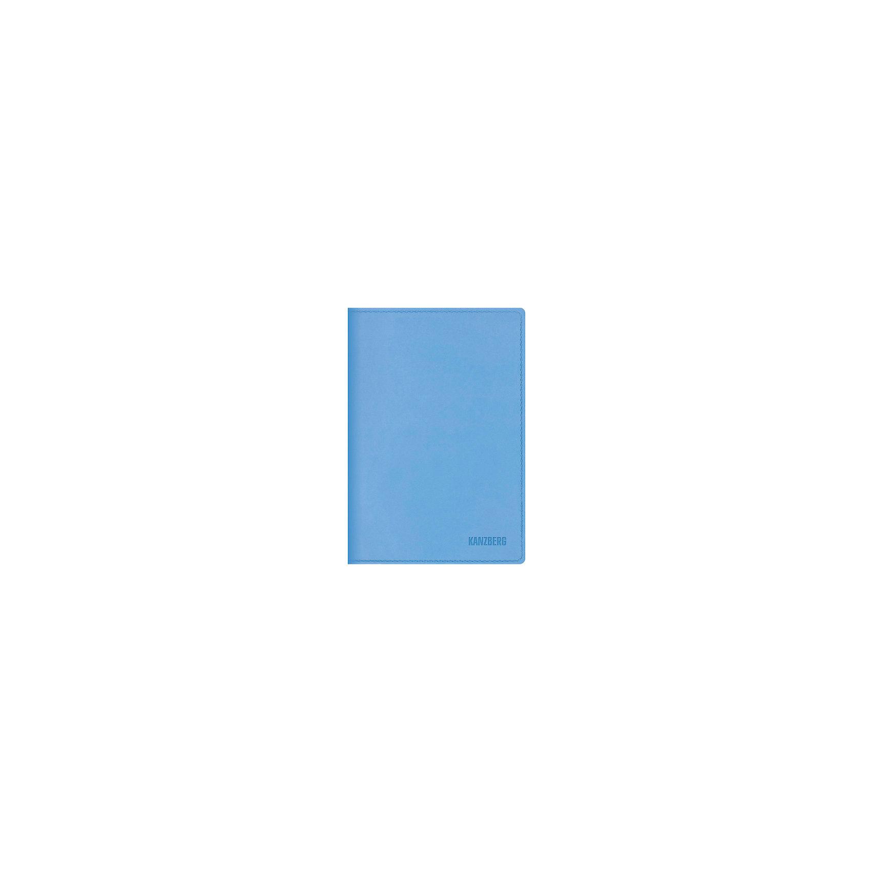 Эксмо Ежедневник голубой А6 KANZBERG, 152 л желай делай ежедневник