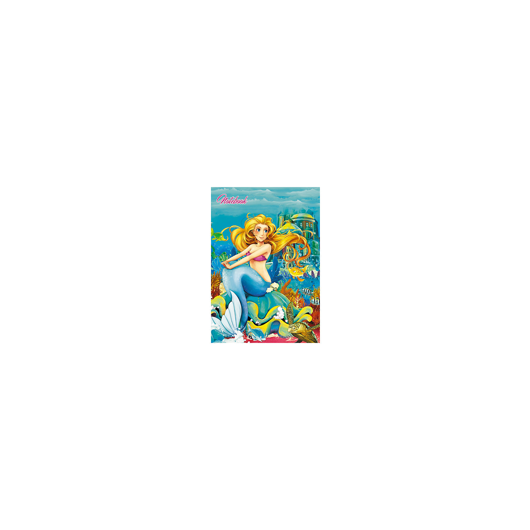 Эксмо Книги для записей А6 Сказочная русалка, 80л книга для записей с практическими упражнениями для здорового позвоночника
