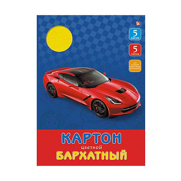 Бархатный цветной картон Красный автомобиль,  5л. 5цв.Бумажная продукция<br>Бархатный цветной картон Красный автомобиль отлично подойдет для детского творчества и создания интересных композиций. Яркая обложка и качественные материалы понравятся ребенку и помогут сотворить самые прекрасные поделки.<br><br>Дополнительная информация:<br>В комплекте: 5 разноцветных листов бархатного картона<br>Обложка: картон<br>Формат: А4<br>Бархатный цветной картон Красный автомобиль можно приобрести в нашем интернет-магазине.<br>Ширина мм: 280; Глубина мм: 200; Высота мм: 5; Вес г: 123; Возраст от месяцев: 72; Возраст до месяцев: 2147483647; Пол: Унисекс; Возраст: Детский; SKU: 4942463;