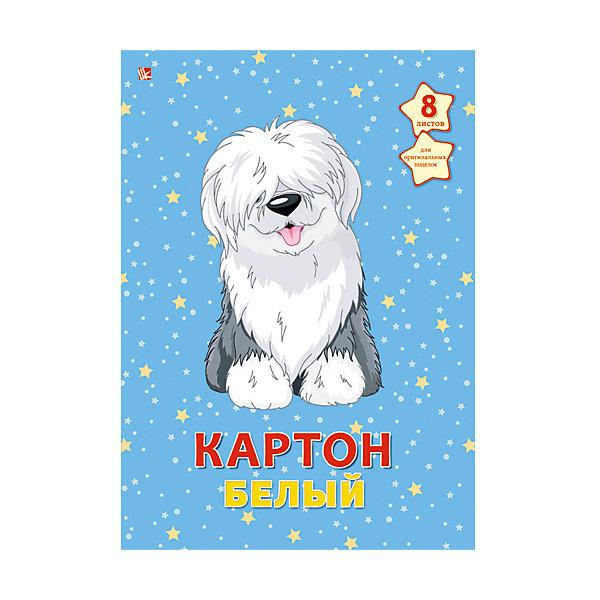 Белый картон Пушистый щенок,  А4, 8лБумажная продукция<br>Пушистый щенок - папка с качественным картоном белого цвета. Красочная обложка с очаровательным щенком привлечет внимание и поможет создать самые интересные поделки.<br><br>Дополнительная информация:<br>Обложка: картон<br>Количество листов: 8<br>Формат: А4<br>Белый картон Пушистый щенок можно купить в нашем интернет-магазине.<br><br>Ширина мм: 280<br>Глубина мм: 200<br>Высота мм: 6<br>Вес г: 240<br>Возраст от месяцев: 72<br>Возраст до месяцев: 2147483647<br>Пол: Унисекс<br>Возраст: Детский<br>SKU: 4942466