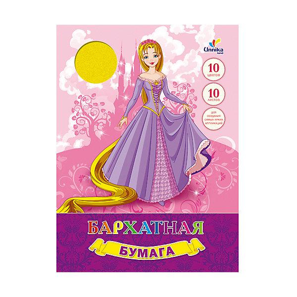 Бархатная бумага Принцесса, 10л, 10цвБумажная продукция<br>Бархатная бумага Принцесса. <br>В папке 10 листов, 10 различных цветов. Эта бумага станет лучшим помощников в создании ярких и необычных аппликаций и поделок!<br><br>Дополнительная информация:<br>Обложка: картон<br>Количество листов: 10(разноцветные)<br>Формат: А4<br>Бархатную бумагу Принцесса вы можете приобрести в нашем интернет-магазине.<br><br>Ширина мм: 280<br>Глубина мм: 200<br>Высота мм: 7<br>Вес г: 124<br>Возраст от месяцев: 72<br>Возраст до месяцев: 2147483647<br>Пол: Унисекс<br>Возраст: Детский<br>SKU: 4942476