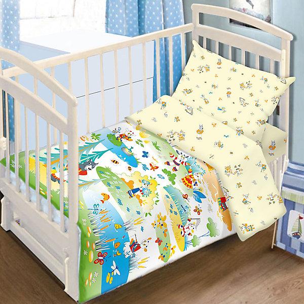 Постельное белье Семеро козлят Сказки 3 пред., Baby Nice, желтыйПостельное белье в кроватку новорождённого<br>Постельное белье Семеро козлят Сказки 3 пред., Baby Nice, желтый.<br><br>Характеристики:<br><br>- В комплекте: наволочка 40х60 см, пододеяльник 112х147 см, простыня на резинке (для матраса 60х120 см.)<br>- В комплект входит подарок: книжка-раскраска по мотивам русских народных сказок<br>- Материал: 100% хлопок<br>- Цвет: желтый<br><br>Детский комплект постельного белья Семеро козлят Сказки от российского производителя Baby Nice выполнен по мотивам русской народной сказки «Волк и семеро козлят». Красочный сказочный дизайн идеально подойдет для детской кроватки и обеспечит здоровой сон малышу. Комплект состоит из наволочки, пододеяльника и простыни на резинке, которая надежно одевается на матрасик, не давая образовываться складкам. Постельное белье изготовлено натуральной импортной ткани высочайшего качества (100% хлопок), прошедшей специальную обработку по умягчению, что сделало постельное белье невероятно мягким и приятным на ощупь. Рисунки нанесены гипоаллергенными красками, устойчивыми к истиранию и многочисленным стиркам.<br><br>Постельное белье Семеро козлят Сказки 3 пред., Baby Nice, желтое можно купить в нашем интернет-магазине.<br><br>Ширина мм: 230<br>Глубина мм: 350<br>Высота мм: 40<br>Вес г: 500<br>Возраст от месяцев: 0<br>Возраст до месяцев: 36<br>Пол: Унисекс<br>Возраст: Детский<br>SKU: 4943408