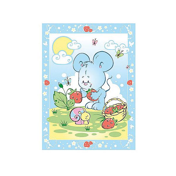 Одеяло байковое Земляничная поляна, 85х115, Baby Nice, голубойОдеяла<br>Одеяло байковое Земляничная поляна, 85х115, Baby Nice, голубой.<br><br>Характеристики:<br><br>- Размер: 85х115 см.<br>- Материал: 100% хлопок<br>- Цвет: голубой<br><br>Детское байковое одеяло «Земляничная поляна» от российского производителя Baby Nice подарит Вашему малышу ощущение тепла и уюта. Одеяло подходят для дома и для прогулки, и рекомендовано к эксплуатации круглый год. Можно не сомневаться, что малыша, укрытого байковым одеялом, ждет комфортный крепкий сон! Выполненное из 100% хлопка, одеяло нежное и мягкое на ощупь, отлично дышит, проводит тепло, поддерживая нужную температуру, никогда не вызовет раздражение на коже малыша, абсолютно гипоаллергенно. Края изделия обработаны оверлоком. Одеяло не требует сложного специального ухода: легко стирается, сушится, не деформируется. А яркий рисунок на изделии обязательно привлечет внимание Вашего крохи, и он будет с большим интересом рассматривать забавного мышонка и его подружку улитку.<br><br>Одеяло байковое Земляничная поляна, 85х115, Baby Nice, голубое можно купить в нашем интернет-магазине.<br><br>Ширина мм: 230<br>Глубина мм: 250<br>Высота мм: 40<br>Вес г: 500<br>Возраст от месяцев: 0<br>Возраст до месяцев: 36<br>Пол: Унисекс<br>Возраст: Детский<br>SKU: 4943409