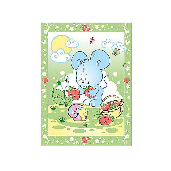 Одеяло байковое Земляничная поляна, 85х115, Baby Nice, зеленыйОдеяла в кроватку новорождённого<br>Одеяло байковое Земляничная поляна, 85х115, Baby Nice, зеленый.<br><br>Характеристики:<br><br>- Размер: 85х115 см.<br>- Материал: 100% хлопок<br>- Цвет: зеленый<br><br>Детское байковое одеяло «Земляничная поляна» от российского производителя Baby Nice подарит Вашему малышу ощущение тепла и уюта. Одеяло подходят для дома и для прогулки, и рекомендовано к эксплуатации круглый год. Можно не сомневаться, что малыша, укрытого байковым одеялом, ждет комфортный крепкий сон! Выполненное из 100% хлопка, одеяло нежное и мягкое на ощупь, отлично дышит, проводит тепло, поддерживая нужную температуру, никогда не вызовет раздражение на коже малыша, абсолютно гипоаллергенно. Края изделия обработаны оверлоком. Одеяло не требует сложного специального ухода: легко стирается, сушится, не деформируется. А яркий рисунок на изделии обязательно привлечет внимание Вашего крохи, и он будет с большим интересом рассматривать забавного мышонка и его подружку улитку.<br><br>Одеяло байковое Земляничная поляна, 85х115, Baby Nice, зеленое можно купить в нашем интернет-магазине.<br><br>Ширина мм: 230<br>Глубина мм: 250<br>Высота мм: 40<br>Вес г: 500<br>Возраст от месяцев: 0<br>Возраст до месяцев: 36<br>Пол: Унисекс<br>Возраст: Детский<br>SKU: 4943410