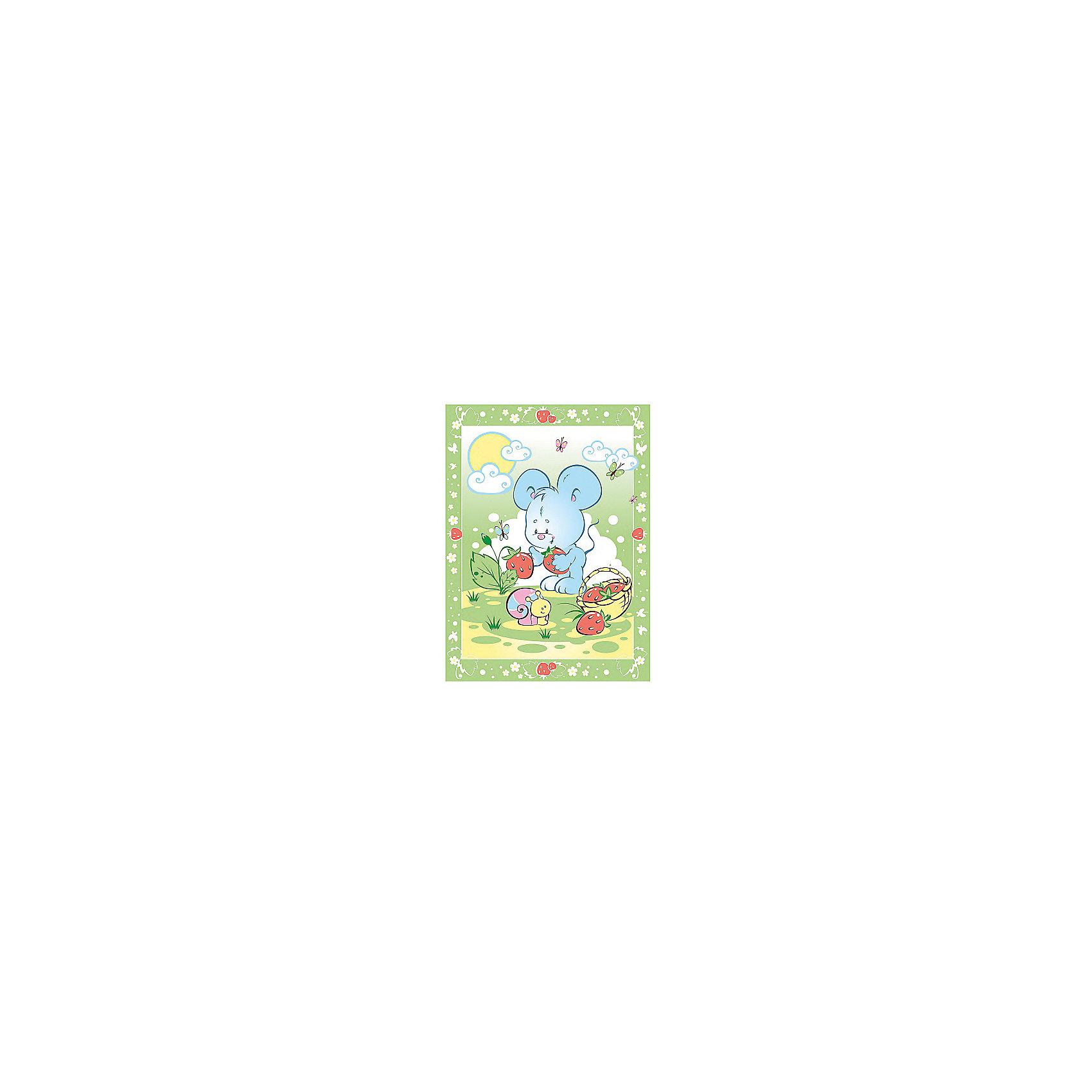 Одеяло байковое Земляничная поляна, 85х115, Baby Nice, зеленыйОдеяла, пледы<br>Одеяло байковое Земляничная поляна, 85х115, Baby Nice, зеленый.<br><br>Характеристики:<br><br>- Размер: 85х115 см.<br>- Материал: 100% хлопок<br>- Цвет: зеленый<br><br>Детское байковое одеяло «Земляничная поляна» от российского производителя Baby Nice подарит Вашему малышу ощущение тепла и уюта. Одеяло подходят для дома и для прогулки, и рекомендовано к эксплуатации круглый год. Можно не сомневаться, что малыша, укрытого байковым одеялом, ждет комфортный крепкий сон! Выполненное из 100% хлопка, одеяло нежное и мягкое на ощупь, отлично дышит, проводит тепло, поддерживая нужную температуру, никогда не вызовет раздражение на коже малыша, абсолютно гипоаллергенно. Края изделия обработаны оверлоком. Одеяло не требует сложного специального ухода: легко стирается, сушится, не деформируется. А яркий рисунок на изделии обязательно привлечет внимание Вашего крохи, и он будет с большим интересом рассматривать забавного мышонка и его подружку улитку.<br><br>Одеяло байковое Земляничная поляна, 85х115, Baby Nice, зеленое можно купить в нашем интернет-магазине.<br><br>Ширина мм: 230<br>Глубина мм: 250<br>Высота мм: 40<br>Вес г: 500<br>Возраст от месяцев: 0<br>Возраст до месяцев: 36<br>Пол: Унисекс<br>Возраст: Детский<br>SKU: 4943410
