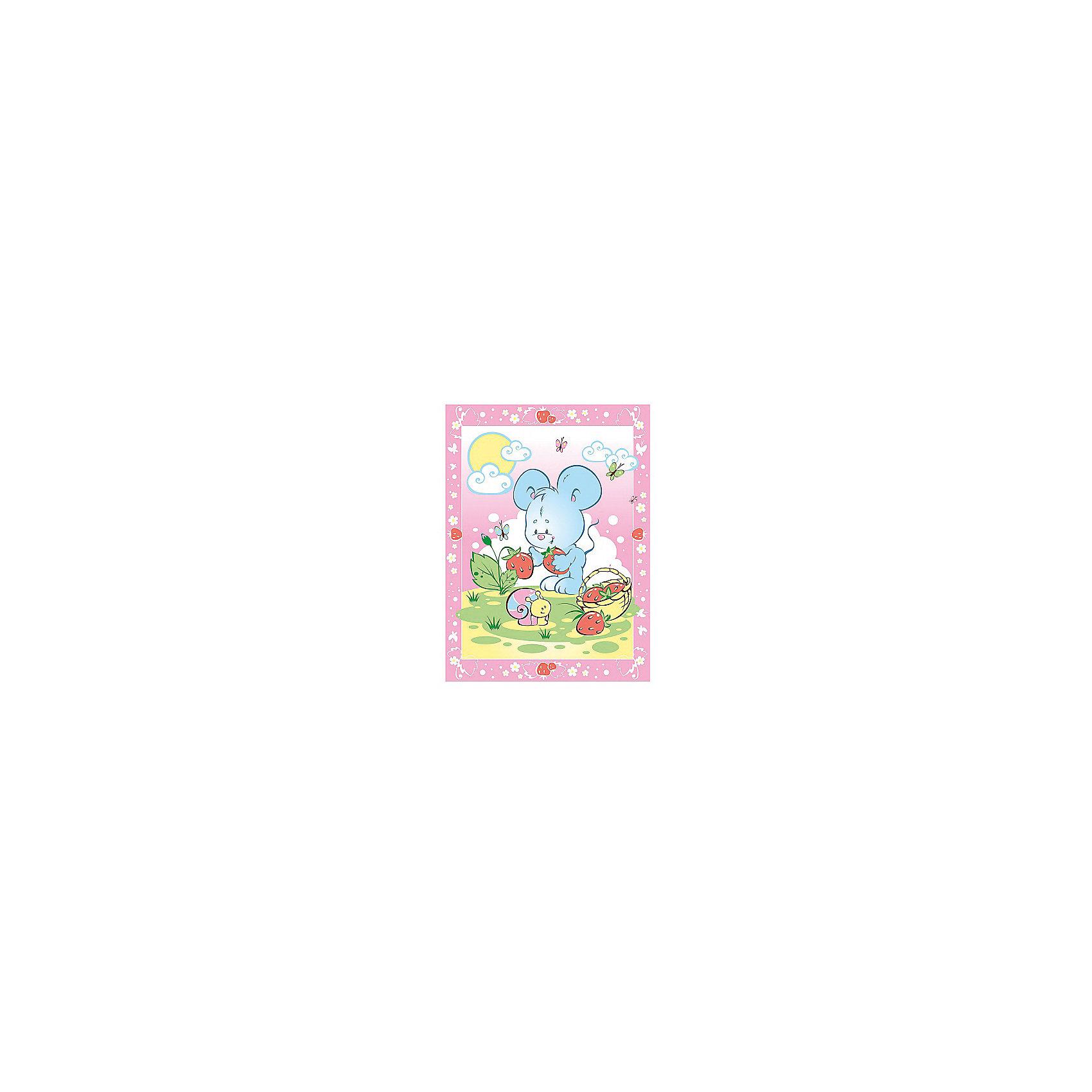 Одеяло байковое Земляничная поляна, 85х115, Baby Nice, розовыйОдеяло байковое Земляничная поляна, 85х115, Baby Nice, розовый.<br><br>Характеристики:<br><br>- Размер: 85х115 см.<br>- Материал: 100% хлопок<br>- Цвет: розовый<br><br>Детское байковое одеяло «Земляничная поляна» от российского производителя Baby Nice подарит Вашему малышу ощущение тепла и уюта. Одеяло подходят для дома и для прогулки, и рекомендовано к эксплуатации круглый год. Можно не сомневаться, что малыша, укрытого байковым одеялом, ждет комфортный крепкий сон! Выполненное из 100% хлопка, одеяло нежное и мягкое на ощупь, отлично дышит, проводит тепло, поддерживая нужную температуру, никогда не вызовет раздражение на коже малыша, абсолютно гипоаллергенно. Края изделия обработаны оверлоком. Одеяло не требует сложного специального ухода: легко стирается, сушится, не деформируется. А яркий рисунок на изделии обязательно привлечет внимание Вашего крохи, и он будет с большим интересом рассматривать забавного мышонка и его подружку улитку.<br><br>Одеяло байковое Земляничная поляна, 85х115, Baby Nice, розовое можно купить в нашем интернет-магазине.<br><br>Ширина мм: 230<br>Глубина мм: 250<br>Высота мм: 40<br>Вес г: 500<br>Возраст от месяцев: 0<br>Возраст до месяцев: 36<br>Пол: Унисекс<br>Возраст: Детский<br>SKU: 4943411