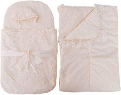 Набор на выписку: конверт, одеяло,чепчик, Baby Nice, бежевый