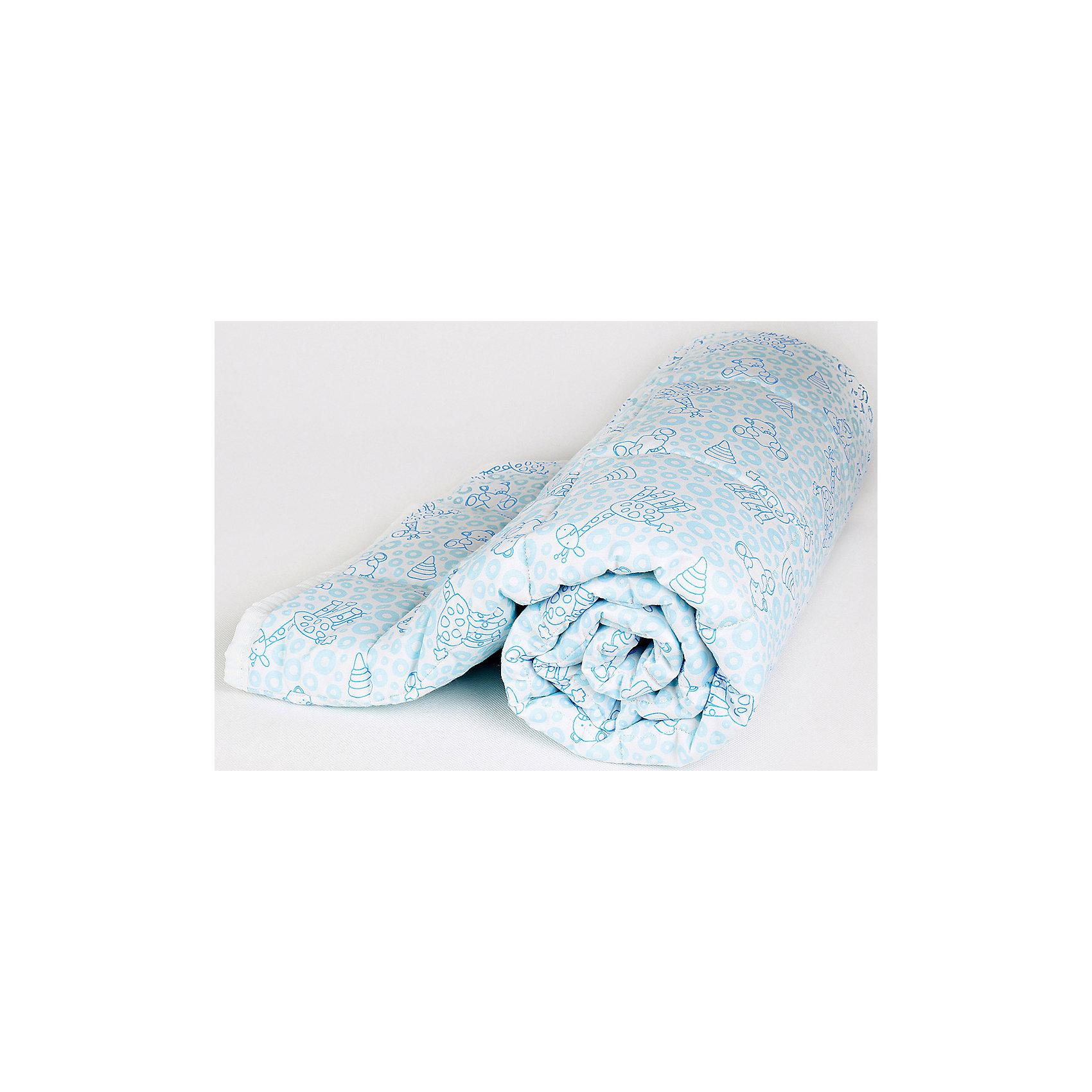 Одеяло стеганное Мишки и жирафы, файбер 300, 105х140, Baby Nice, голубойОдеяло стеганное Мишки и жирафы, файбер 300, 105х140, Baby Nice, голубой.<br><br>Характеристики:<br><br>- Размер: 105х140 см.<br>- Материал верха: 100% хлопок<br>- Наполнитель: файбер<br>- Плотность наполнителя: 300 г/м2<br>- Цвет: голубой<br>- Упаковка: пластиковая сумка-чехол<br>- Размер упаковки: 35x13х32 см.<br><br>Стёганое одеяло «Мишки и жирафы» от российского производителя Baby Nice - это прекрасное решение для детской кроватки, ведь оно отлично согреет малыша, подарив ему необыкновенный комфорт и уют. Одеяло изготовлено из высококачественных материалов: верх выполнен из 100%-го хлопка, а наполнитель - из файбера, благодаря чему одеяло невероятно лёгкое и обладает прекрасными дышащими и терморегуляционными свойствами. В нем заводятся пылевые клещи и микроорганизмы. К тому же оно гипоаллергенно, отлично стирается и не слеживается, быстро сохнет и не впитывает неприятные запахи. А принт с забавными жирафами и медвежатами обязательно порадует ребёнка.<br><br>Одеяло стеганное Мишки и жирафы, файбер 300, 105х140, Baby Nice, голубое можно купить в нашем интернет-магазине.<br><br>Ширина мм: 200<br>Глубина мм: 100<br>Высота мм: 100<br>Вес г: 500<br>Возраст от месяцев: 0<br>Возраст до месяцев: 36<br>Пол: Унисекс<br>Возраст: Детский<br>SKU: 4943420