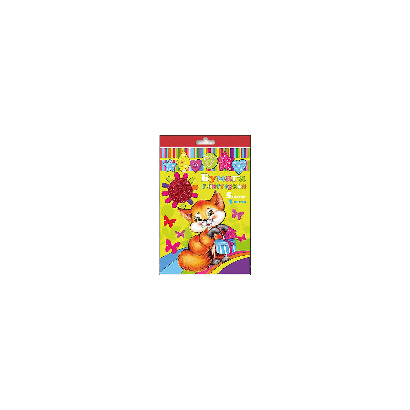 Феникс+ Бумага Глиттерная, 5 л феникс картон гофрированный 5 листов