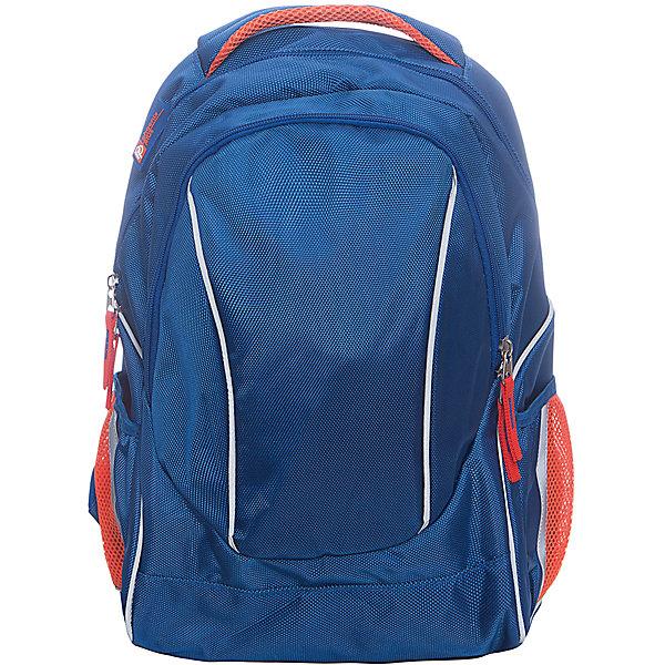 Рюкзак молодежный, синийДорожные сумки и чемоданы<br>Яркий, удобный, вместительный рюкзак для Вашего ребенка. У рюкзака одно большое отделение на застежке с внутренними отделениями, и одно дополнительное отделение спереди, лямки регулируются.<br><br>Дополнительная информация:<br><br>- Возраст: от 6 лет.<br>- Размер: 45х36х18 см.<br>- Материал: 100% полиэстер.<br>- Цвет: синий.<br>- Размер упаковки: 43х31х11 см.<br>- Вес в упаковке: 755 г.<br><br>Купить молодежный рюкзак в синем цвете, можно в нашем магазине.<br>Ширина мм: 430; Глубина мм: 310; Высота мм: 110; Вес г: 755; Возраст от месяцев: 72; Возраст до месяцев: 2147483647; Пол: Унисекс; Возраст: Детский; SKU: 4943465;