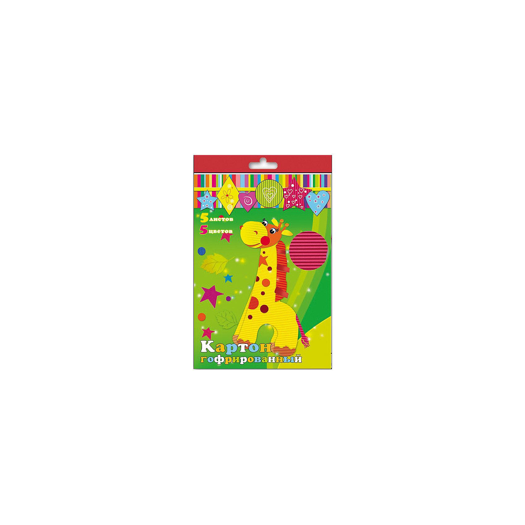 Феникс+ Картон гофрированный , 5 листов феникс картон гофрированный с глиттерным напылением