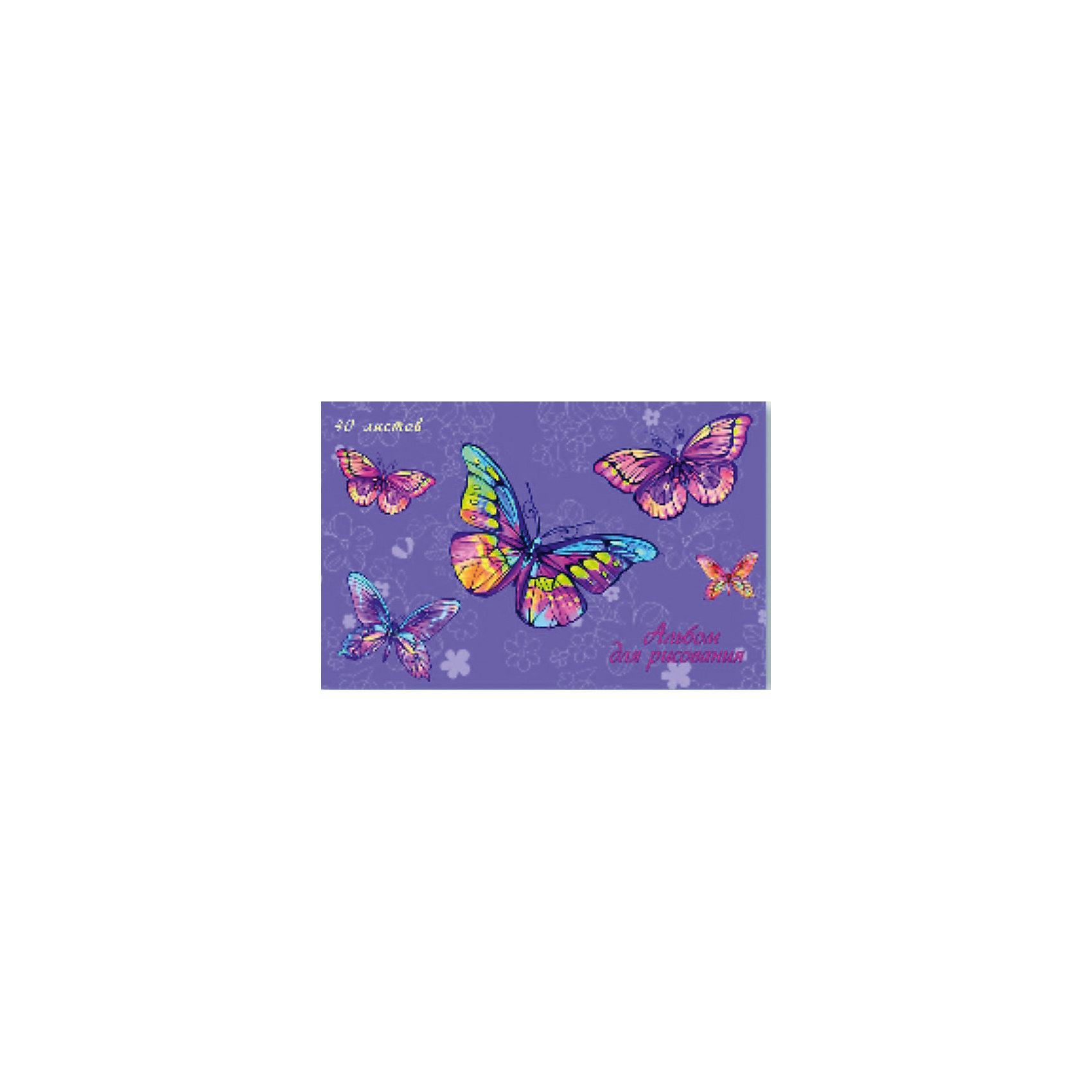 Альбом для рисования Радужные бабочки, 40лСкоро 1 сентября, а значит Вашему ребенку обязательно понадобиться альбом для рисования!<br><br>Дополнительная информация:<br><br>- Возраст: от 3 лет.<br>- 40 листов.<br>- Орнамент: бабочки.<br>- Формат: А4.<br>- Материал: бумага, картон.<br>- Размер упаковки: 0,5х29,6х20 см.<br>- Вес в упаковке: 305 г.<br><br>Купить альбом для рисования Радужные бабочки можно в нашем магазине.<br><br>Ширина мм: 5<br>Глубина мм: 296<br>Высота мм: 200<br>Вес г: 305<br>Возраст от месяцев: 36<br>Возраст до месяцев: 2147483647<br>Пол: Унисекс<br>Возраст: Детский<br>SKU: 4943502