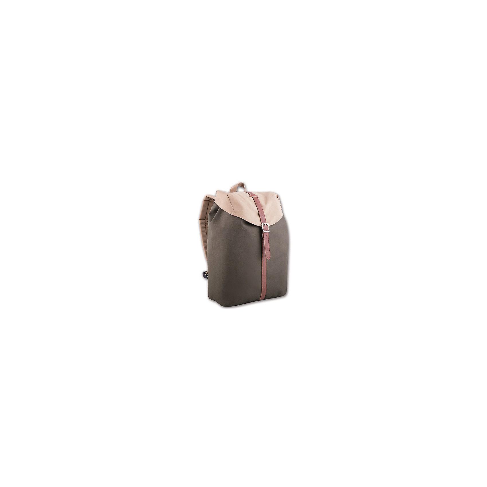 Феникс+ Рюкзак молодежный, серо-бежевый рюкзаки феникс феникс 43654 рюкзак молодежный хаки 29х13х44см