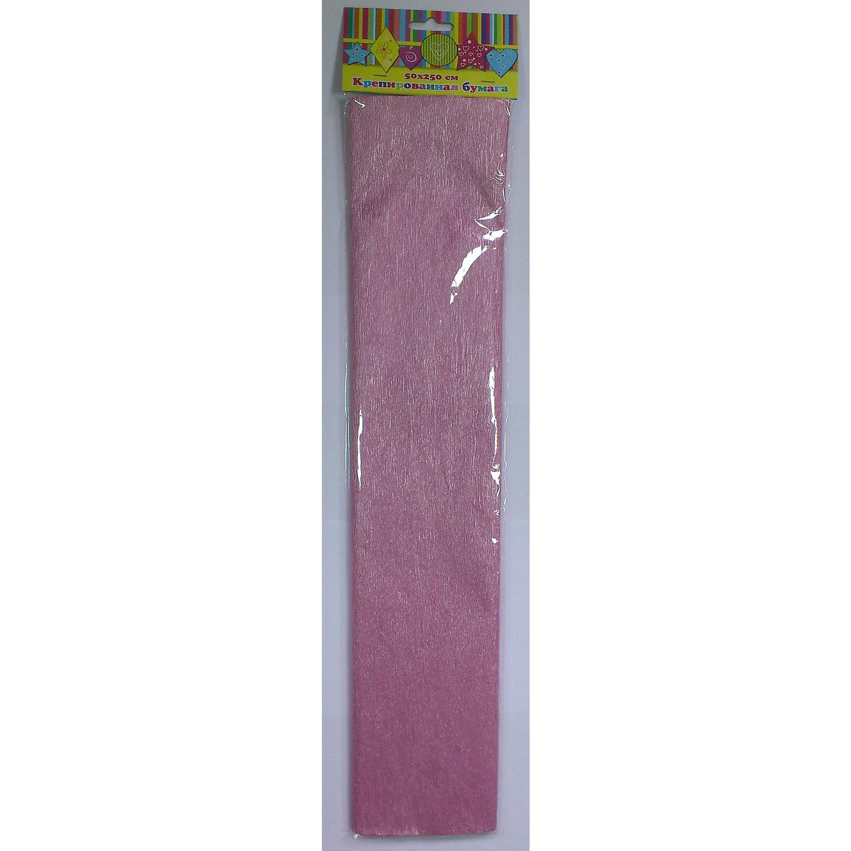 Бумага розовая перламутровая крепированнаяИзумительная крепированная бумага розового с перламутровым цвета, из нее Ваш малыш сможет сделать множество ярких цветов или другие поделки.<br><br>Дополнительная информация:<br><br>- Возраст: от 3 лет.<br>- 1 лист.<br>- Цвет: розовая с перламутром.<br>- Материал: бумага.<br>- Размеры: 50х250 см.<br>- Размер упаковки: 51х11х0,2 см.<br>- Вес в упаковке: 35 г. <br><br>Купить крепированную эластичную бумагу в розовом с перламутровым цвете, можно в нашем магазине.<br><br>Ширина мм: 510<br>Глубина мм: 110<br>Высота мм: 2<br>Вес г: 35<br>Возраст от месяцев: 36<br>Возраст до месяцев: 2147483647<br>Пол: Унисекс<br>Возраст: Детский<br>SKU: 4943509