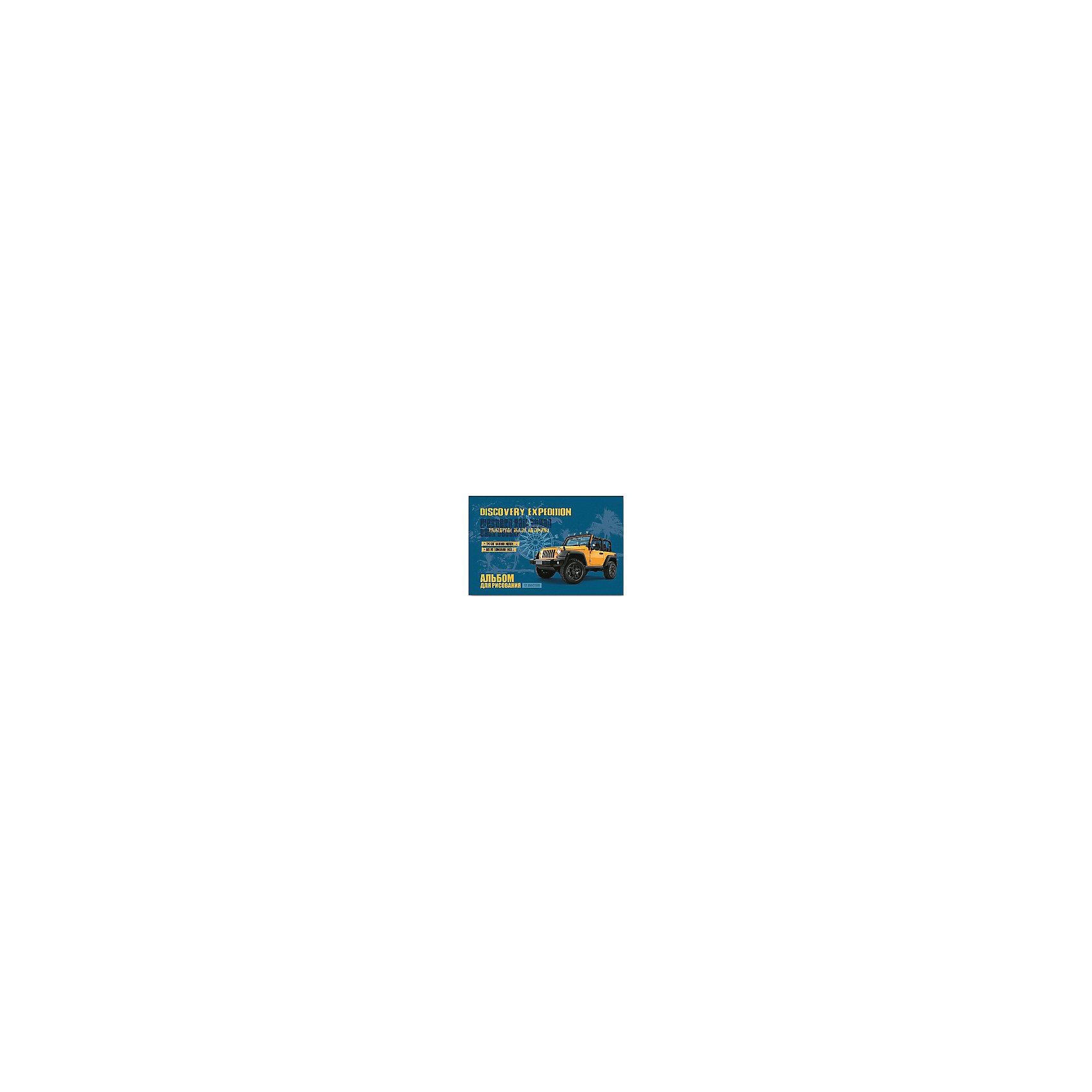 Феникс+ Альбом для рисования Желтый джип, 12л альбом для рисования на спирали а 3 наложенным платежом