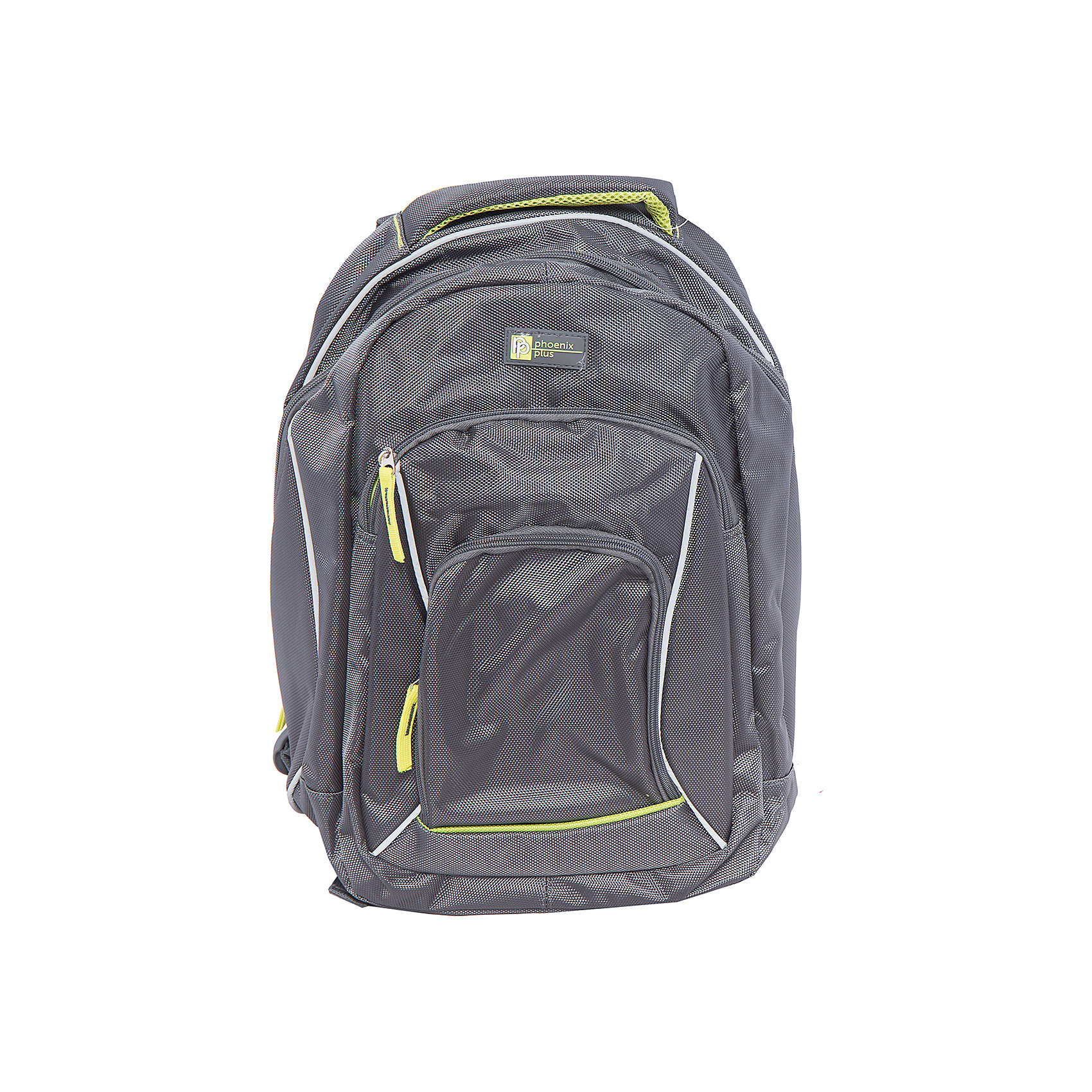 Рюкзак спортивный, темно-серыйВместительный, удобный рюкзак для Вашего ребенка. У рюкзака одно большое отделение на молнии и два дополнительных накладных кармана спереди, лямки регулируются.<br><br>Дополнительная информация:<br><br>- Возраст: от 6 лет.<br>- Молнии ранца украшены брелками.<br>- Цвет: темно-серый.<br>- Материал: 100% полиэстер.<br>- Размер упаковки: 45х32х16 см.<br>- Вес в упаковке: 720 г.<br><br>Купить спортивный рюкзак темно-серого цвета, можно в нашем магазине.<br><br>Ширина мм: 450<br>Глубина мм: 320<br>Высота мм: 160<br>Вес г: 720<br>Возраст от месяцев: 72<br>Возраст до месяцев: 2147483647<br>Пол: Унисекс<br>Возраст: Детский<br>SKU: 4943525
