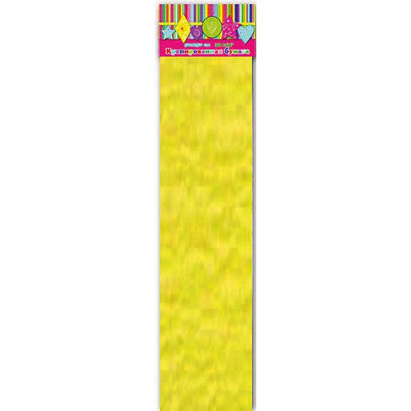 Бумага желтая эластичная крепированнаяПоследняя цена<br>Изумительная крепированная бумага желтого цвета, из нее Ваш малыш сможет сделать множество ярких цветов или другие поделки.<br><br>Дополнительная информация:<br><br>- Возраст: от 3 лет.<br>- 1 лист.<br>- Цвет: желтый<br>- Материал: бумага.<br>- Размеры: 50х250 см.<br>- Размер упаковки: 51х10х1,5 см.<br>- Вес в упаковке: 40 г. <br><br>Купить крепированную бумагу в желтом цвете, можно в нашем магазине.<br><br>Ширина мм: 510<br>Глубина мм: 100<br>Высота мм: 5<br>Вес г: 40<br>Возраст от месяцев: 36<br>Возраст до месяцев: 2147483647<br>Пол: Унисекс<br>Возраст: Детский<br>SKU: 4943577