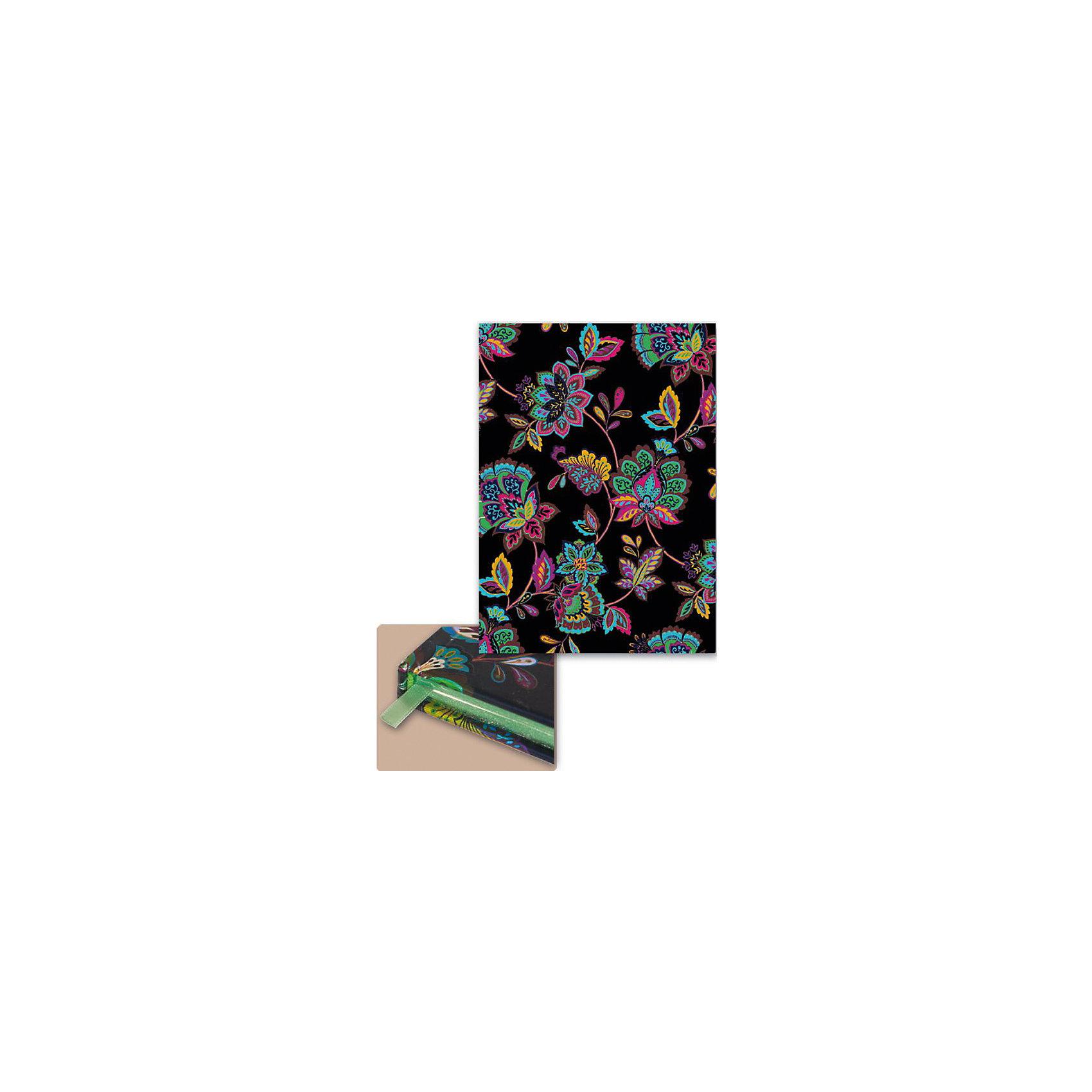 Феникс+ Ежедневник А5 недатированный Цветы на черном желай делай ежедневник