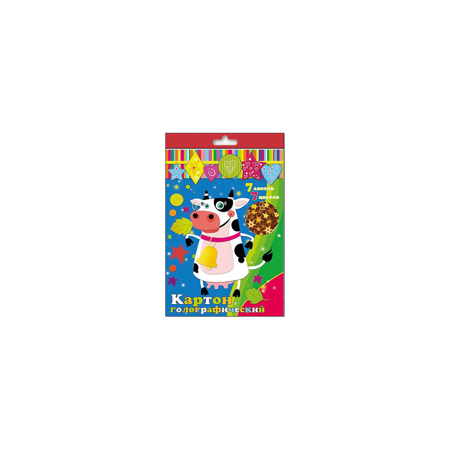 Картон голографический ,7 листовБумажная продукция<br>Красивый голографический картон поможет создать Вашему ребенку настоящий шедевр!<br><br>Дополнительная информация:<br><br>- Возраст: от 3 лет.<br>- 7 листов.<br>- 7 цветов.<br>- Материал: картон.<br>- Размер упаковки: 33х21х0,2 см.<br>- Вес в упаковке: 140 г. <br><br>Купить картон голографический, можно в нашем магазине.<br><br>Ширина мм: 330<br>Глубина мм: 210<br>Высота мм: 2<br>Вес г: 140<br>Возраст от месяцев: 36<br>Возраст до месяцев: 2147483647<br>Пол: Унисекс<br>Возраст: Детский<br>SKU: 4943584