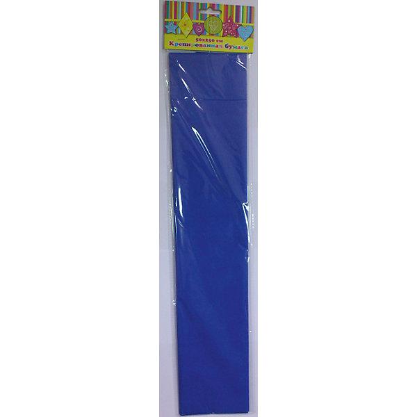 Бумага синяя крепированная