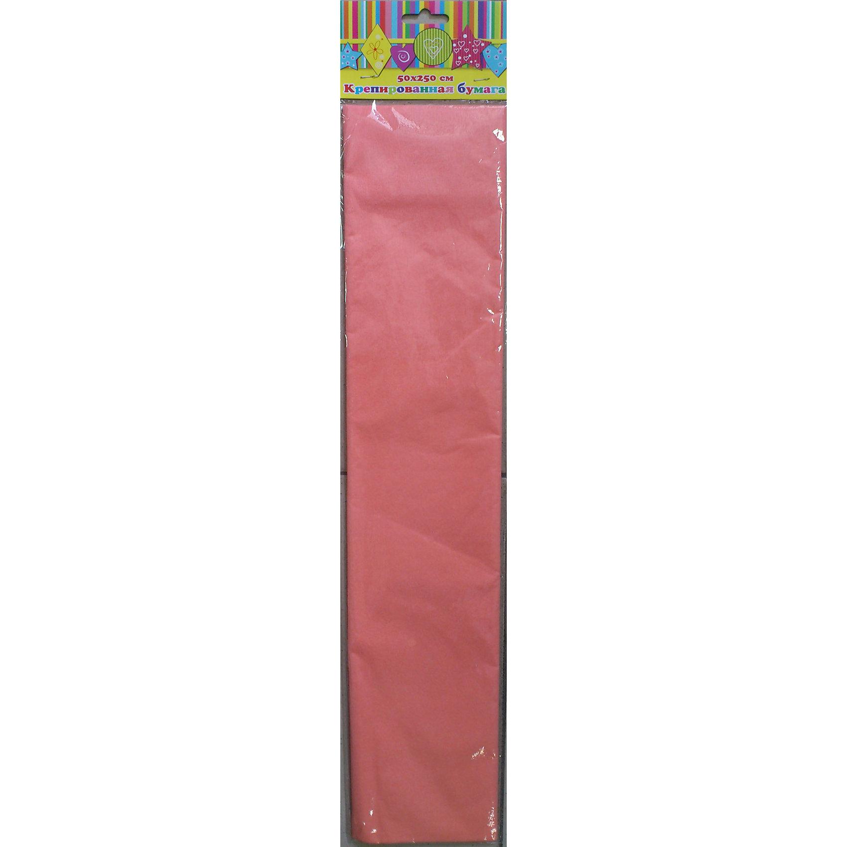Бумага персиковая крепированнаяРукоделие<br>Изумительная крепированная бумага персикового цвета, из нее Ваш малыш сможет сделать множество ярких цветов или другие поделки.<br><br>Дополнительная информация:<br><br>- Возраст: от 3 лет.<br>- 1 лист.<br>- Цвет: персиковый.<br>- Материал: бумага.<br>- Размеры: 50х250 см.<br>- Размер упаковки: 51х11х0,6 см.<br>- Вес в упаковке: 30 г. <br><br>Купить крепированную бумагу в персиковом цвете, можно в нашем магазине.<br><br>Ширина мм: 510<br>Глубина мм: 110<br>Высота мм: 6<br>Вес г: 30<br>Возраст от месяцев: 36<br>Возраст до месяцев: 2147483647<br>Пол: Унисекс<br>Возраст: Детский<br>SKU: 4943593