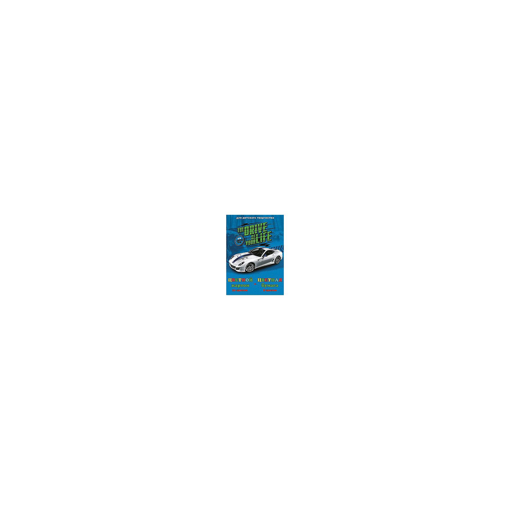 Феникс+ Цветной картон и цветная бумага Авто на синем купить авто в украине запчасти шаран