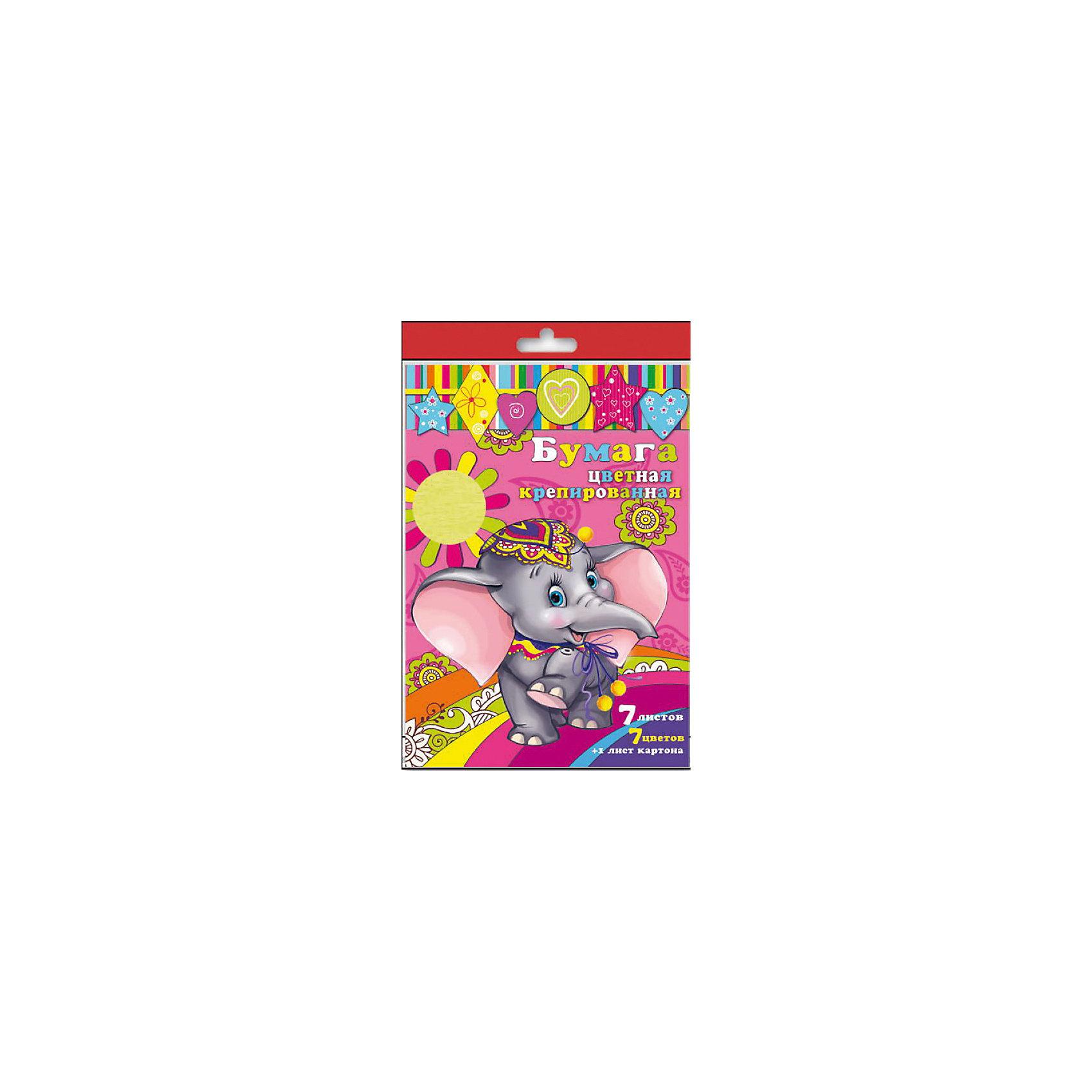 Набор цветной крепированой бумаги и картонаИзумительная набор цветной крепированной бумаги и картона, из них Ваш малыш сможет сделать множество ярких цветов, зверюшек или другие поделки.<br><br>Дополнительная информация:<br><br>- Возраст: от 3 лет.<br>- 7 листов бумаги и 1 лист картона.<br>- Цвета в наборе: красный, желтый, голубой, зеленый, коричневый, серебристый, золотистый.<br>- Материал: бумага, картон.<br>- Размеры: 21х29,7 см.<br>- Размер упаковки: 34х21х0,2 см.<br>- Вес в упаковке: 32 г. <br><br>Купить набор крепированной цветной бумаги и картона, можно в нашем магазине.<br><br>Ширина мм: 340<br>Глубина мм: 210<br>Высота мм: 2<br>Вес г: 32<br>Возраст от месяцев: 36<br>Возраст до месяцев: 2147483647<br>Пол: Унисекс<br>Возраст: Детский<br>SKU: 4943615