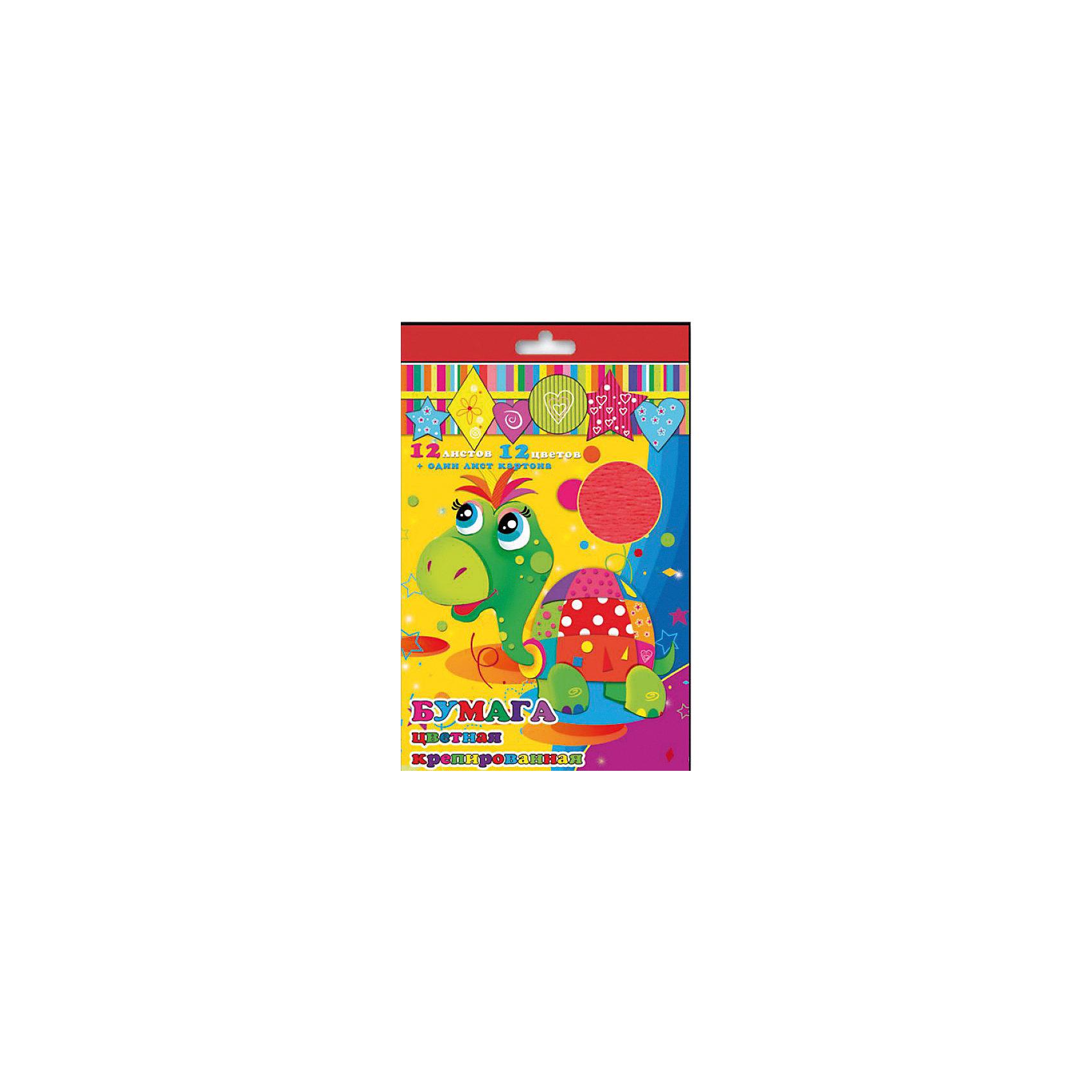 Набор цветной крепированой бумаги и картонаИзумительная набор цветной крепированной бумаги и картона, из них Ваш малыш сможет сделать множество ярких цветов, зверюшек или другие поделки.<br><br>Дополнительная информация:<br><br>- Возраст: от 3 лет.<br>- 12 листов бумаги и 1 лист картона.<br>- Цвета в наборе: красный, белый, оранжевый, малиновый, желтый, голубой, синий, сиреневый, зеленый, салатовый, розовый, коричневый<br>- Материал: бумага, картон.<br>- Размеры: 21х29,7 см.<br>- Размер упаковки: 34х21х0,2 см.<br>- Вес в упаковке: 40 г. <br><br>Купить набор крепированной цветной бумаги и картона, можно в нашем магазине.<br><br>Ширина мм: 340<br>Глубина мм: 210<br>Высота мм: 2<br>Вес г: 40<br>Возраст от месяцев: 36<br>Возраст до месяцев: 2147483647<br>Пол: Унисекс<br>Возраст: Детский<br>SKU: 4943622
