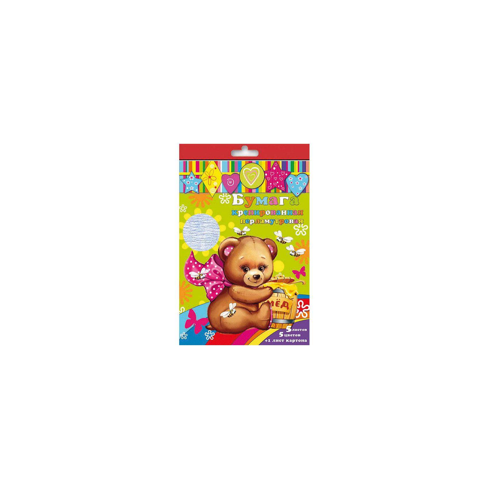 Набор цветной крепированой перламутровой бумаги и картонаИзумительная набор цветной крепированной перламутровой бумаги и картона, из них Ваш малыш сможет сделать множество ярких цветов, зверюшек или другие поделки.<br><br>Дополнительная информация:<br><br>- Возраст: от 3 лет.<br>- 5 листов бумаги и 1 лист картона.<br>- Цвета в наборе: белый перламутровый, желтый перламутровый, зеленый перламутровый, розовый перламутровый, голубой перламутровый.<br>- Материал: бумага, картон.<br>- Размеры: 21х29,7 см.<br>- Размер упаковки: 34х21х0,2 см.<br>- Вес в упаковке: 31 г. <br><br>Купить набор крепированной перламутровой бумаги и картона, можно в нашем магазине.<br><br>Ширина мм: 340<br>Глубина мм: 210<br>Высота мм: 2<br>Вес г: 31<br>Возраст от месяцев: 36<br>Возраст до месяцев: 2147483647<br>Пол: Унисекс<br>Возраст: Детский<br>SKU: 4943630