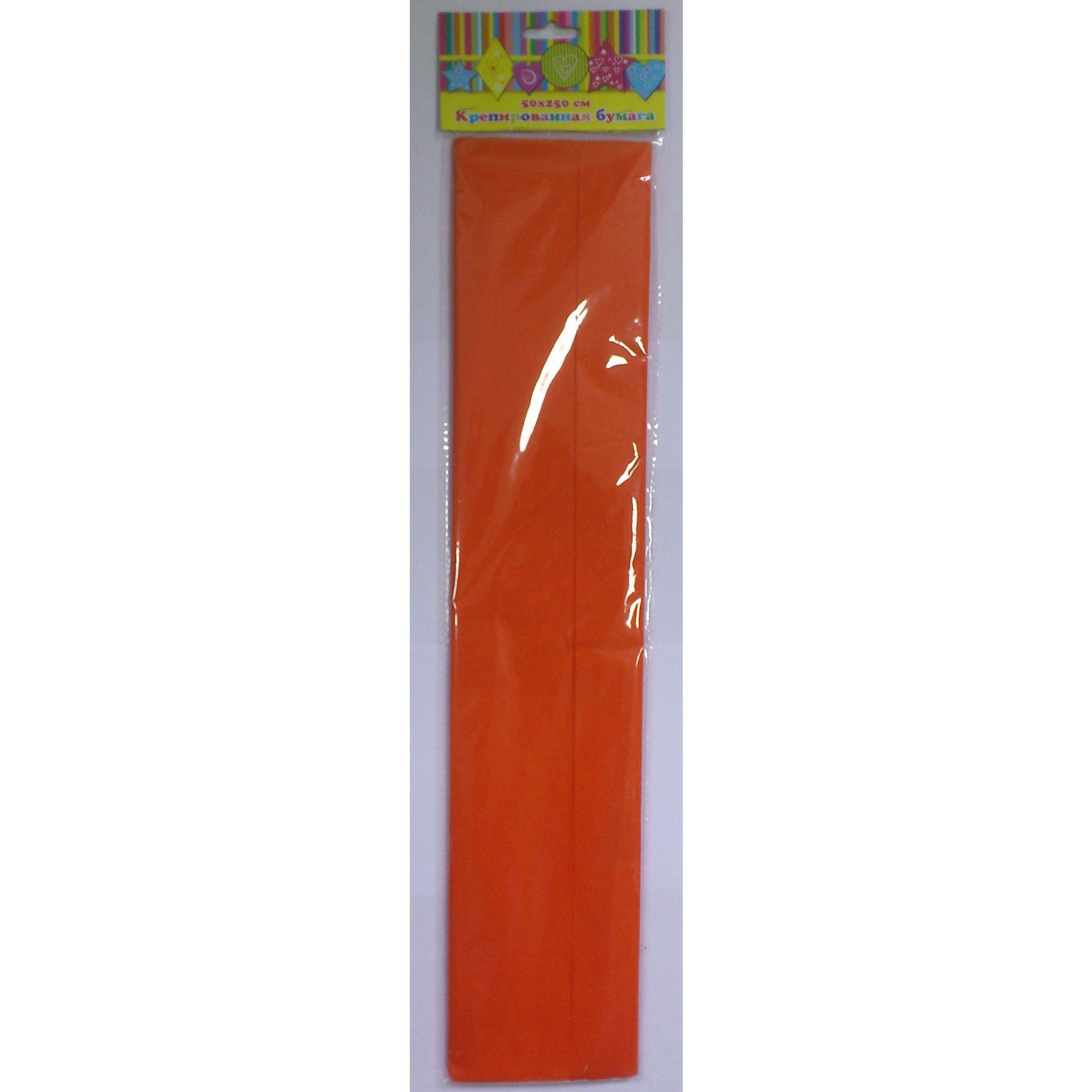 Бумага оранжевая крепированнаяИзумительная крепированная бумага оранжевого цвета, из нее Ваш малыш сможет сделать множество ярких цветов или другие поделки.<br><br>Дополнительная информация:<br><br>- Возраст: от 3 лет.<br>- 1 лист.<br>- Цвет: оранжевый.<br>- Материал: бумага.<br>- Размеры: 50х250 см.<br>- Размер упаковки: 51х11х0,2 см.<br>- Вес в упаковке: 30 г. <br><br>Купить крепированную бумагу в оранжевом цвете, можно в нашем магазине.<br><br>Ширина мм: 510<br>Глубина мм: 110<br>Высота мм: 2<br>Вес г: 30<br>Возраст от месяцев: 36<br>Возраст до месяцев: 2147483647<br>Пол: Унисекс<br>Возраст: Детский<br>SKU: 4943631