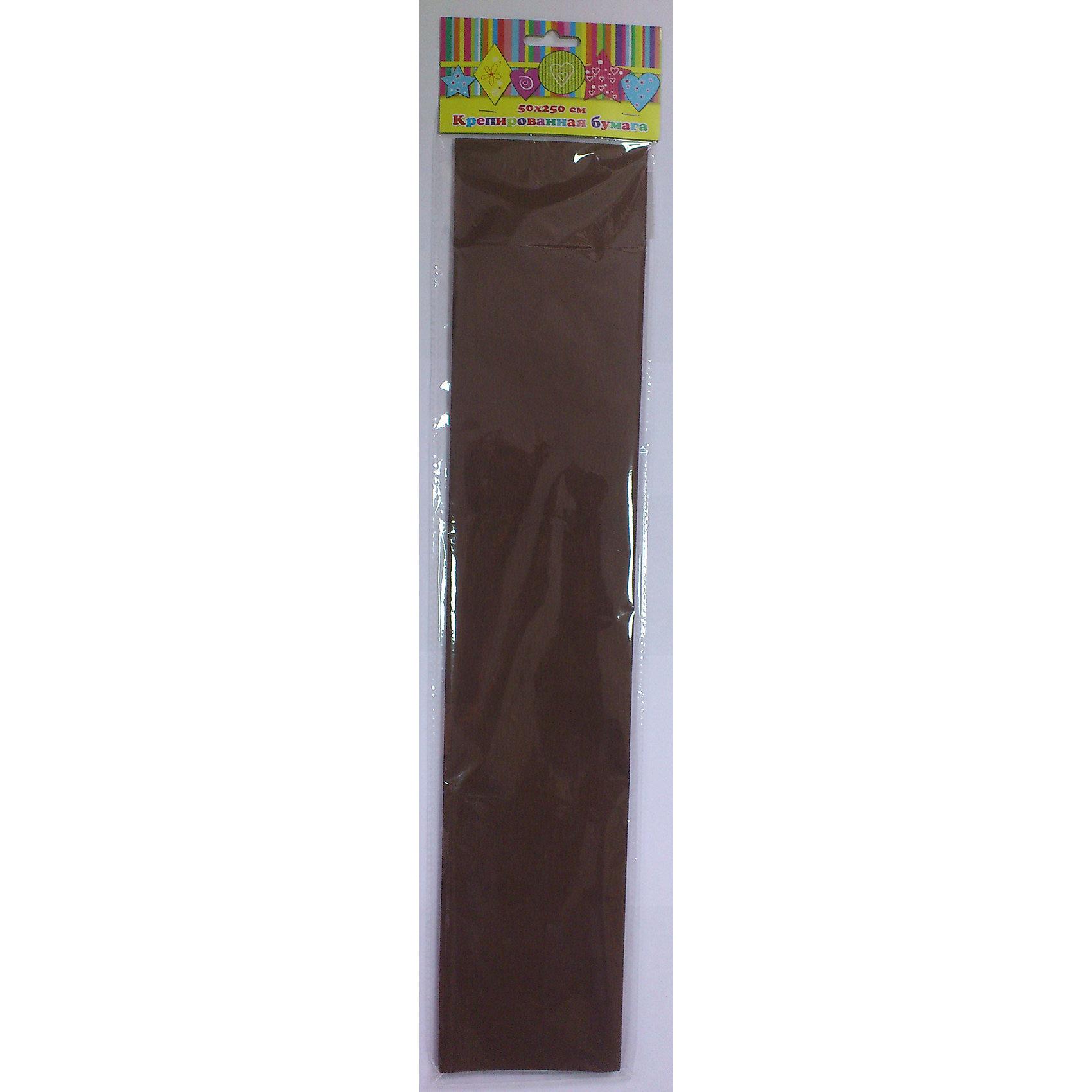 Бумага коричневая крепированнаяБумага<br>Изумительная крепированная бумага коричневого цвета, из нее Ваш малыш сможет сделать множество ярких цветов или другие поделки.<br><br>Дополнительная информация:<br><br>- Возраст: от 3 лет.<br>- 1 лист.<br>- Цвет: коричневый.<br>- Материал: бумага.<br>- Размеры: 50х250 см.<br>- Размер упаковки: 51х11х0,2 см.<br>- Вес в упаковке: 30 г. <br><br>Купить крепированную бумагу в коричневом цвете, можно в нашем магазине.<br><br>Ширина мм: 510<br>Глубина мм: 110<br>Высота мм: 2<br>Вес г: 30<br>Возраст от месяцев: 36<br>Возраст до месяцев: 2147483647<br>Пол: Унисекс<br>Возраст: Детский<br>SKU: 4943642