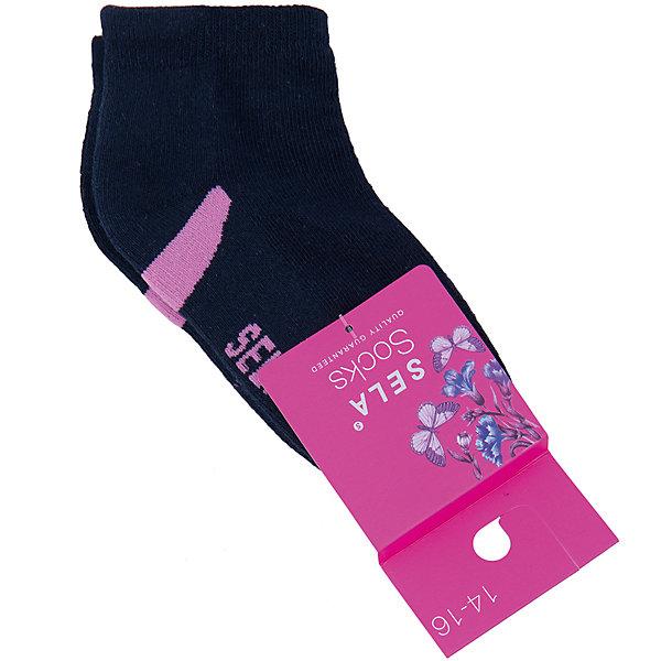 Носки для девочки SELAНоски<br>Удобные носки - неотъемлемая составляющая комфорта ребенка. Эта модель отлично сидит на девочке, она сшита из приятного на ощупь материала, мягкая и дышащая. Натуральный хлопок в составе ткани не вызывает аллергии и обеспечивает ребенку комфорт. Мягкая резинка не сдавливает ногу.<br>Одежда от бренда Sela (Села) - это качество по приемлемым ценам. Многие российские родители уже оценили преимущества продукции этой компании и всё чаще приобретают одежду и аксессуары Sela.<br><br>Дополнительная информация:<br><br>цвет: синий;<br>материал: 75% хлопок, 20% ПЭ, 5% эластан;<br>мягкая резинка;<br>трикотаж.<br><br>Носки для девочки от бренда Sela можно купить в нашем интернет-магазине.<br><br>Ширина мм: 87<br>Глубина мм: 10<br>Высота мм: 105<br>Вес г: 115<br>Цвет: синий<br>Возраст от месяцев: 72<br>Возраст до месяцев: 84<br>Пол: Женский<br>Возраст: Детский<br>Размер: 28-30,27/28,25-27,22-25<br>SKU: 4943958