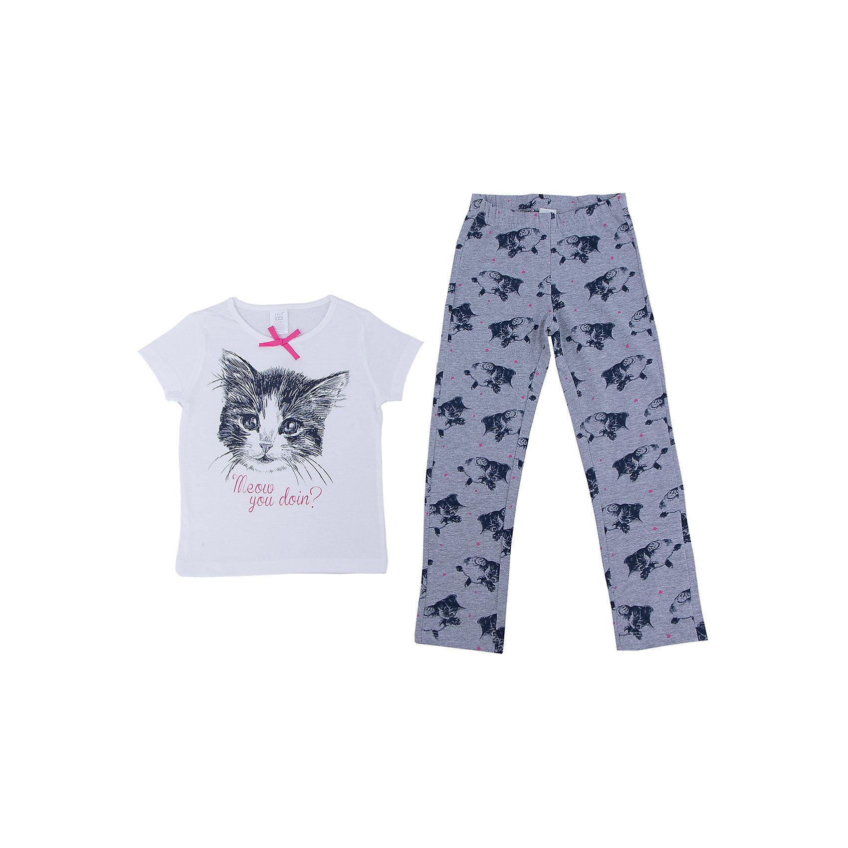Пижама для девочки SELAУдобная пижама - неотъемлемая составляющая комфортного сна ребенка. Эта модель отлично сидит на девочке, она сшита из приятного на ощупь материала, мягкая и дышащая. Натуральный хлопок в составе ткани не вызывает аллергии и обеспечивает ребенку комфорт. В наборе - футболка и штаны, вещи украшены симпатичным принтом.<br>Одежда от бренда Sela (Села) - это качество по приемлемым ценам. Многие российские родители уже оценили преимущества продукции этой компании и всё чаще приобретают одежду и аксессуары Sela.<br><br>Дополнительная информация:<br><br>материал: 100% хлопок;<br>принт;<br>трикотаж.<br><br>Пижаму для девочки от бренда Sela можно купить в нашем интернет-магазине.<br><br>Ширина мм: 281<br>Глубина мм: 70<br>Высота мм: 188<br>Вес г: 295<br>Цвет: серый<br>Возраст от месяцев: 96<br>Возраст до месяцев: 108<br>Пол: Женский<br>Возраст: Детский<br>Размер: 128/134,116/122,104/110,92/98,140/146<br>SKU: 4944154