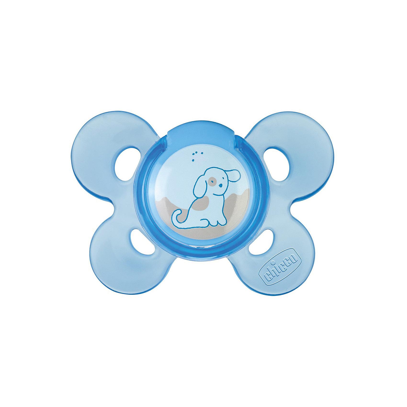 Силиконовая пустышка Physio Comfort 0-6мес., CHICCO, СобачкаУдобная эргономичная пустышка из силикона предназначена специально для маленьких деток!<br>Пустышка способствует правильному развитию неба, языка и зубок. <br><br>Дополнительная информация:<br><br>- Возраст: от 0 до 6 месяцев.<br>- Цвет: голубой.<br>- Материал: силикон.<br><br>Купить пустышку Physio Comfort Собачка (0-6 мес.) в голубом цвете, можно в нашем магазине.<br><br>Ширина мм: 145<br>Глубина мм: 80<br>Высота мм: 50<br>Вес г: 34<br>Возраст от месяцев: 0<br>Возраст до месяцев: 6<br>Пол: Унисекс<br>Возраст: Детский<br>SKU: 4944252