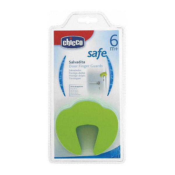 Защита  для дверей Safe, фиксатор двери, CHICCOБлокирующие и защитные устройства для дома<br>Благодаря такой защите дверь не закрывается полностью, и ребенок избежит травмы пальчиков.<br><br>Дополнительная информация:<br><br>- В наборе: 1 шт.<br>- Материал: полистирол.<br>- Цвет: зеленый.<br><br>Купить защиту для дверей Safe, можно в нашем магазине.<br><br>Ширина мм: 145<br>Глубина мм: 225<br>Высота мм: 30<br>Вес г: 23<br>Возраст от месяцев: 6<br>Возраст до месяцев: 36<br>Пол: Унисекс<br>Возраст: Детский<br>SKU: 4944286