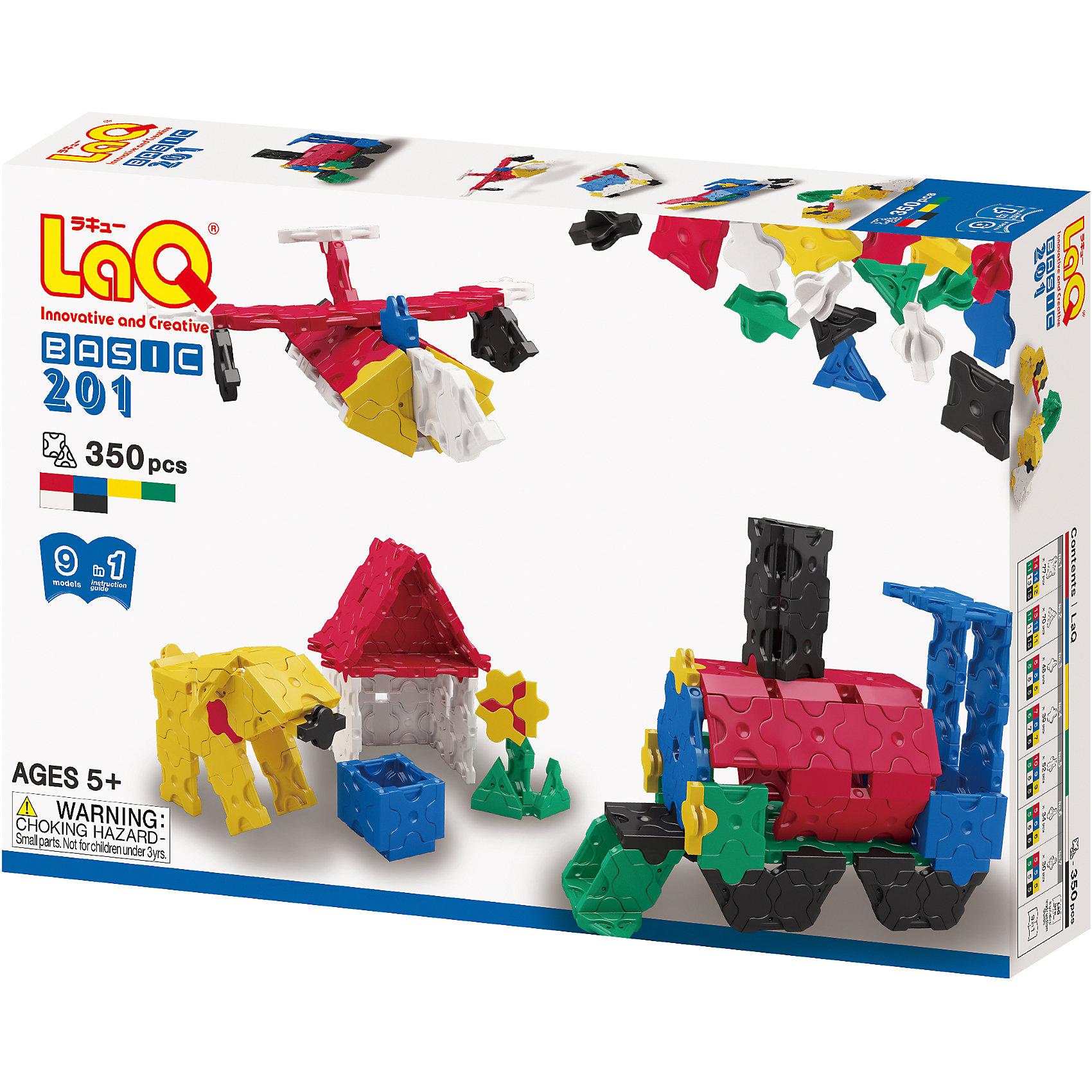 Конструктор Basic, 350 деталей, LaQКонструктор Basic состоит из 350 оригинальных деталей, из которых ребенок с легкостью сможет собрать различные транспортные средства, животных, цветы и деревья. В наборе имеются яркие детали с формой треугольника и квадрата, с пятью удобными креплениями. Игра с конструктором развивает воображение, мелкую моторику и усидчивость. Соединять детали невероятно просто, что позволит юному скульптору играть с удовольствием!<br><br>Дополнительная информация:<br>В наборе: 350 деталей(6 цветов), инструкция для 3D моделей<br>Материал: пластик<br>Размер упаковки: 24х16х4 см<br>Вес: 500 грамм<br>Конструктор Basic можно приобрести в нашем интернет-магазине.<br><br>Ширина мм: 240<br>Глубина мм: 40<br>Высота мм: 160<br>Вес г: 350<br>Возраст от месяцев: 60<br>Возраст до месяцев: 1188<br>Пол: Унисекс<br>Возраст: Детский<br>SKU: 4944566
