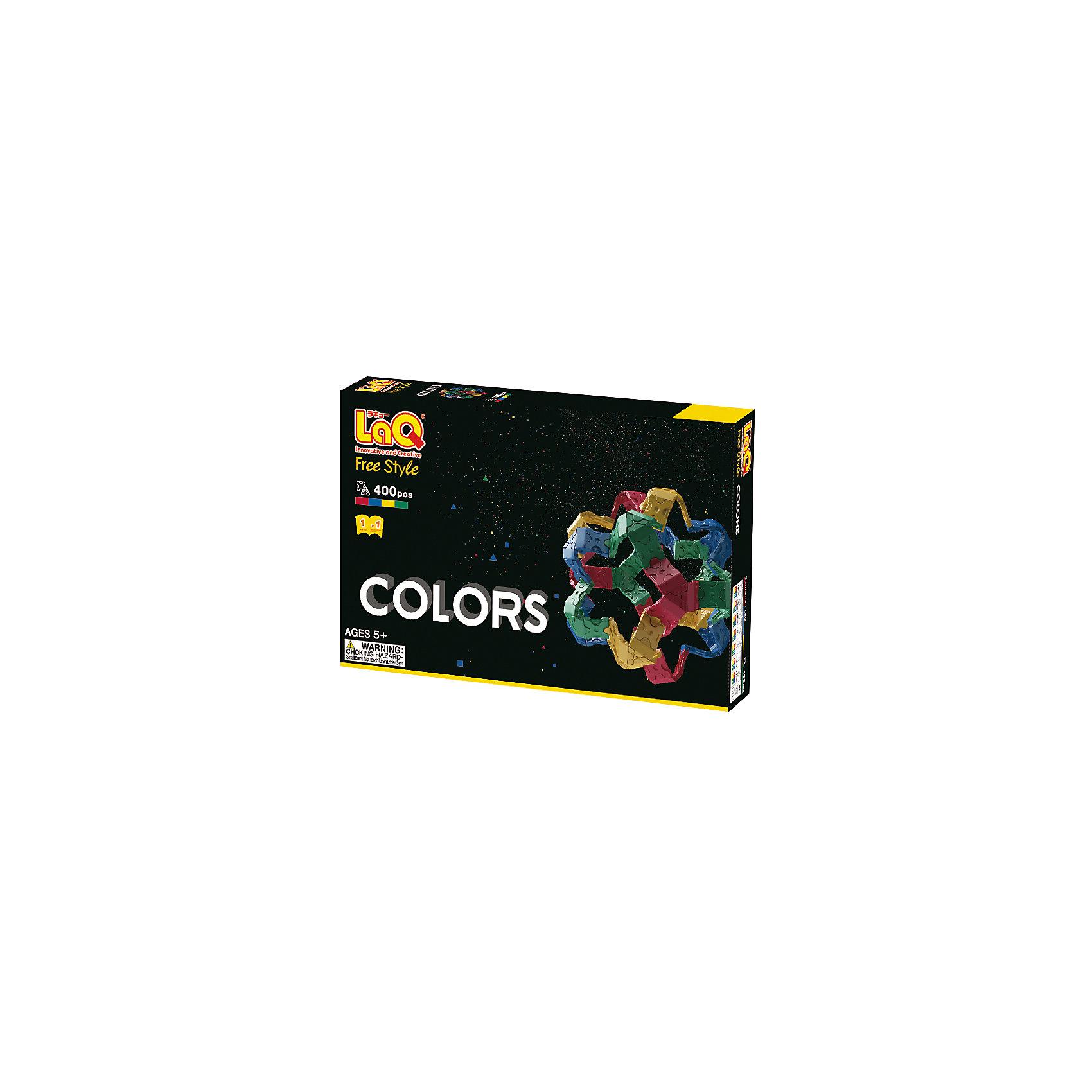 Конструктор Colors, 400 деталей, LaQПластмассовые конструкторы<br>Конструктор Colors состоит из 400 оригинальных деталей, из которых ребенок с легкостью сможет собрать различные транспортные средства, животных, цветы и деревья. В наборе имеются яркие детали с формой треугольника и квадрата, с пятью удобными креплениями. Игра с конструктором развивает воображение, мелкую моторику и усидчивость. Соединять детали невероятно просто, что позволит юному ребенку играть с удовольствием!<br><br>Дополнительная информация:<br>В наборе: 400 деталей(4 цвета)<br>Материал: пластик<br>Размер упаковки: 24х16х4 см<br>Конструктор Colors можно приобрести в нашем интернет-магазине.<br><br>Ширина мм: 240<br>Глубина мм: 160<br>Высота мм: 40<br>Вес г: 327<br>Возраст от месяцев: 60<br>Возраст до месяцев: 1188<br>Пол: Унисекс<br>Возраст: Детский<br>SKU: 4944574