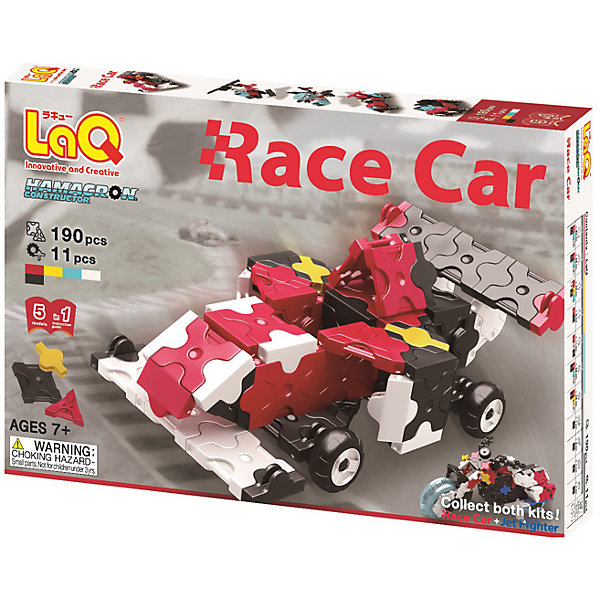 Конструктор Race Car, 190 деталей, LaQПластмассовые конструкторы<br>Конструктор Race Car состоит из 190 оригинальных деталей, из которых ребенок с легкостью сможет собрать различные гоночные машины. В наборе имеются яркие детали с формой треугольника и квадрата, с пятью удобными боковыми креплениями, которые можно соединять как прямо, так и с наклоном. Игра с конструктором развивает воображение, мелкую моторику и усидчивость. Соединять детали невероятно просто, что позволит ребенку почувствовать себя настоящим скульптором!<br><br>Дополнительная информация:<br>В наборе: 190 деталей(5 цветов), инструкция <br>Материал: пластик<br>Размер упаковки: 24х16х4 см<br>Конструктор Race Car можно приобрести в нашем интернет-магазине.<br><br>Ширина мм: 240<br>Глубина мм: 40<br>Высота мм: 160<br>Вес г: 268<br>Возраст от месяцев: 84<br>Возраст до месяцев: 1188<br>Пол: Мужской<br>Возраст: Детский<br>SKU: 4944576