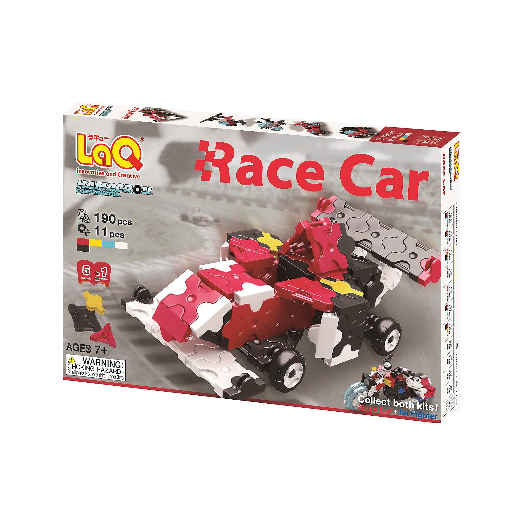 LaQ Конструктор Race Car, 190 деталей, LaQ конструктор laq 1818 mini pteranodon