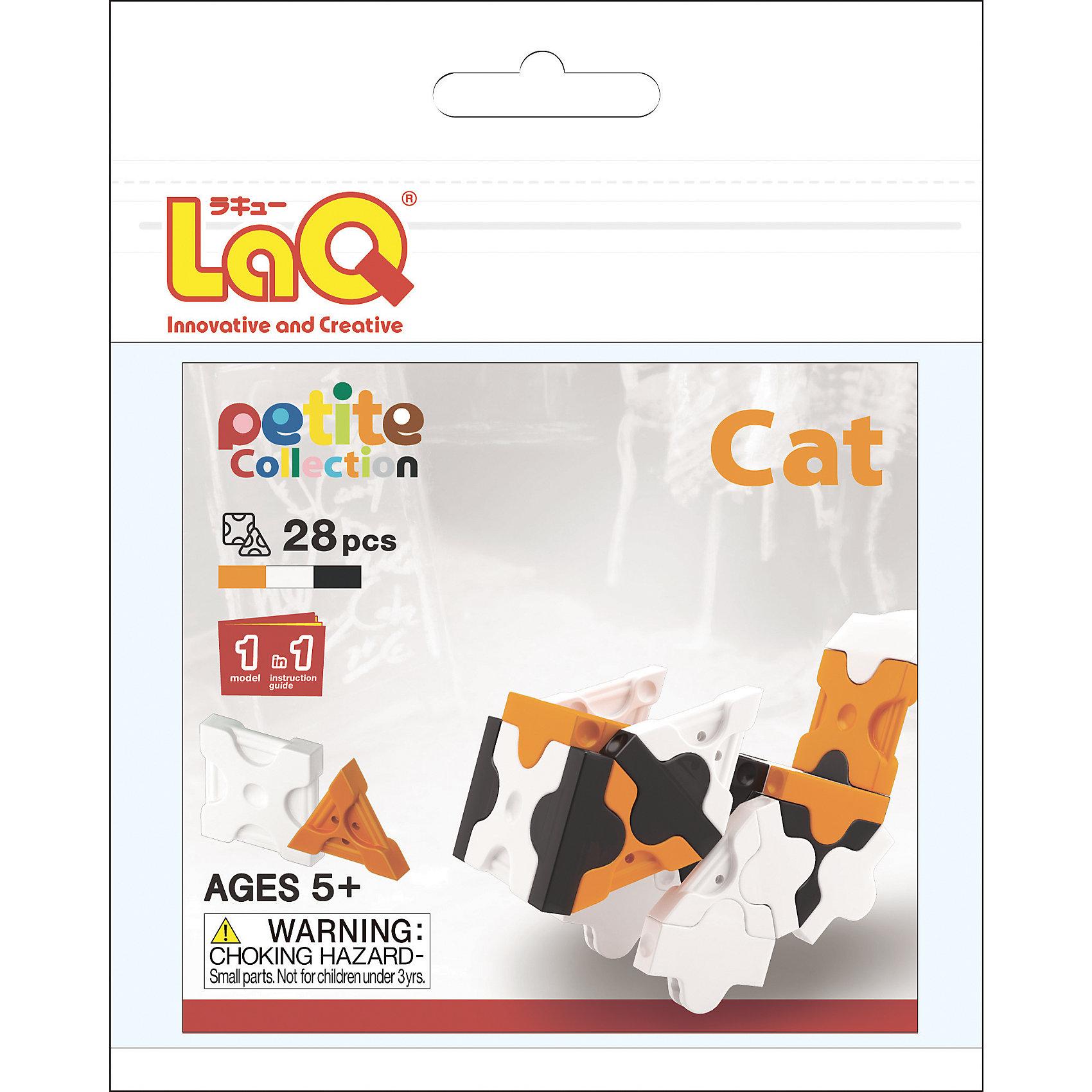 Конструктор Cat, 28 деталей, LaQКонструктор Cat состоит из 28 оригинальных деталей, из которых ребенок с легкостью сможет собрать необычного кота. В наборе имеются яркие детали с формой треугольника и квадрата, с пятью удобными боковыми креплениями, которые можно соединять как прямо, так и с наклоном. Игра с конструктором развивает воображение, мелкую моторику и усидчивость. Соединять детали невероятно просто, что позволит ребенку почувствовать себя настоящим скульптором!<br><br>Дополнительная информация:<br>В наборе:28 деталей(3 цвета), инструкция <br>Материал: пластик<br>Размер упаковки: 11х10,5х0,2 см<br>Конструктор Cat можно приобрести в нашем интернет-магазине.<br><br>Ширина мм: 120<br>Глубина мм: 160<br>Высота мм: 5<br>Вес г: 19<br>Возраст от месяцев: 60<br>Возраст до месяцев: 1188<br>Пол: Унисекс<br>Возраст: Детский<br>SKU: 4944577