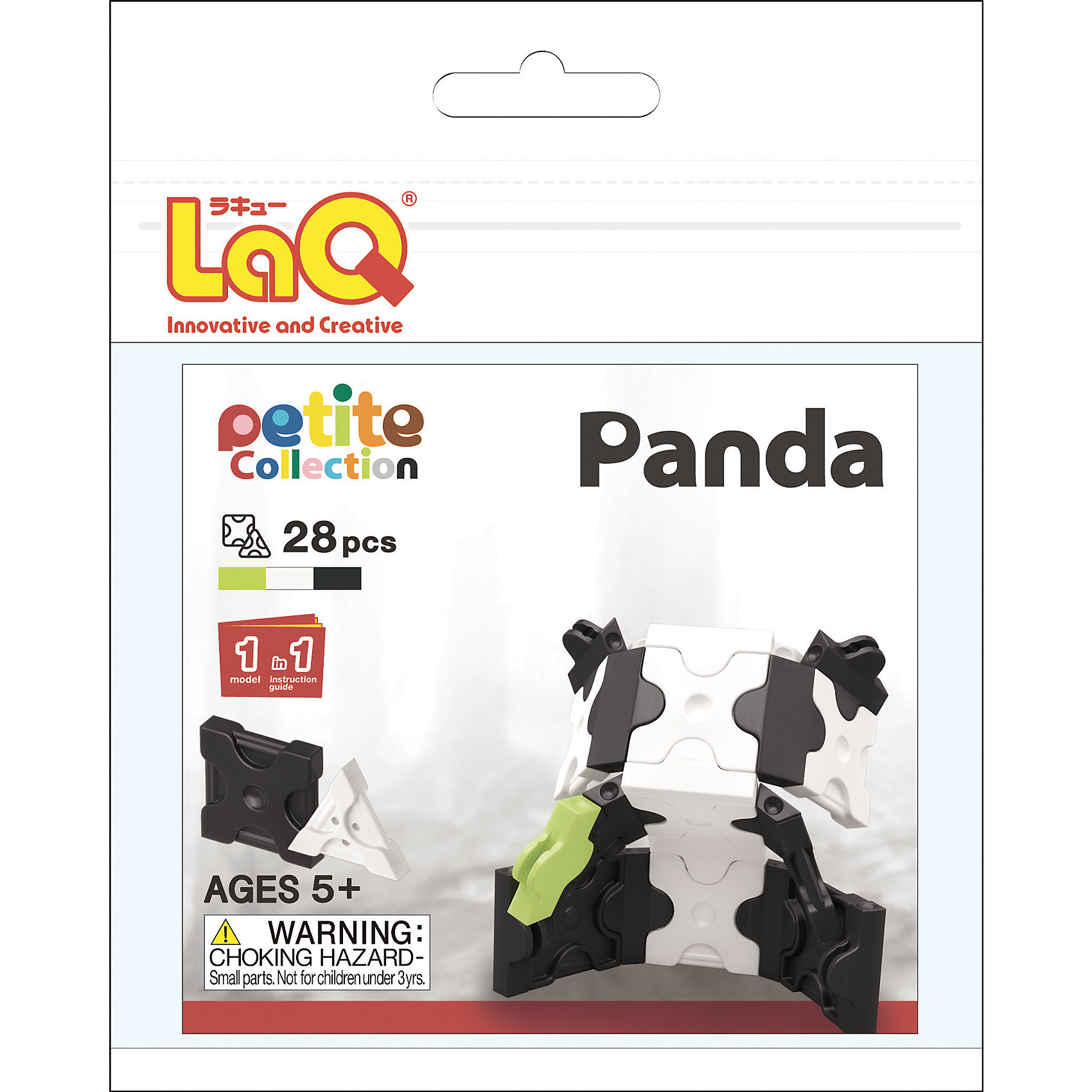 LaQ Конструктор Panda, 28 деталей, LaQ конструктор laq 1818 mini pteranodon