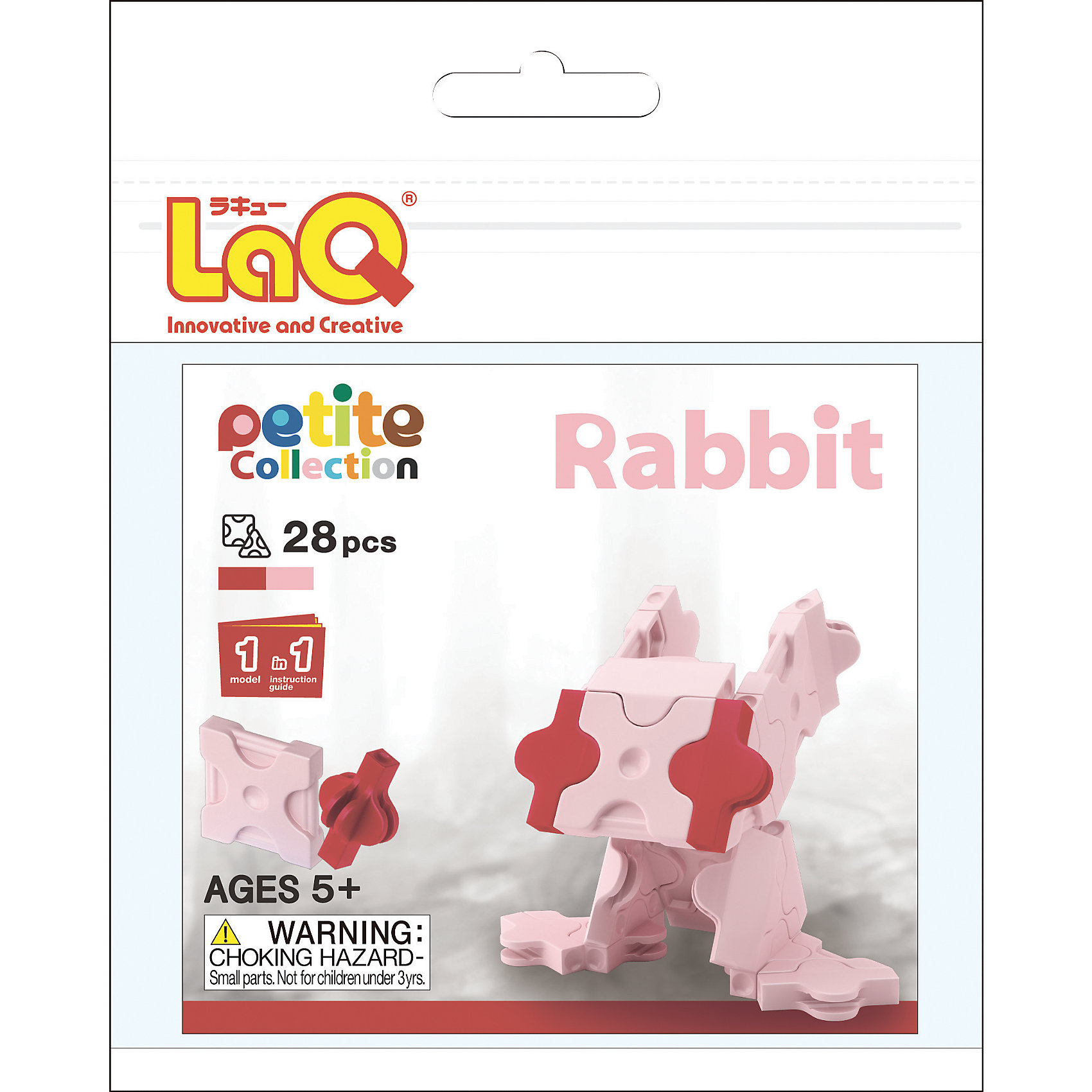 Конструктор Rabbit, 28 деталей, LaQПластмассовые конструкторы<br>Конструктор Rabbit состоит из 28 оригинальных деталей, из которых ребенок с легкостью сможет собрать необычного кролика. В наборе имеются яркие детали с формой треугольника и квадрата, с пятью удобными боковыми креплениями, которые можно соединять как прямо, так и с наклоном. Игра с конструктором развивает воображение, мелкую моторику и усидчивость. Соединять детали невероятно просто, что позволит ребенку почувствовать себя настоящим скульптором!<br><br>Дополнительная информация:<br>В наборе:28 деталей(2 цвета), инструкция <br>Материал: пластик<br>Размер упаковки: 12х16 см<br>Конструктор Rabbit можно приобрести в нашем интернет-магазине.<br><br>Ширина мм: 120<br>Глубина мм: 160<br>Высота мм: 5<br>Вес г: 19<br>Возраст от месяцев: 60<br>Возраст до месяцев: 1188<br>Пол: Унисекс<br>Возраст: Детский<br>SKU: 4944580