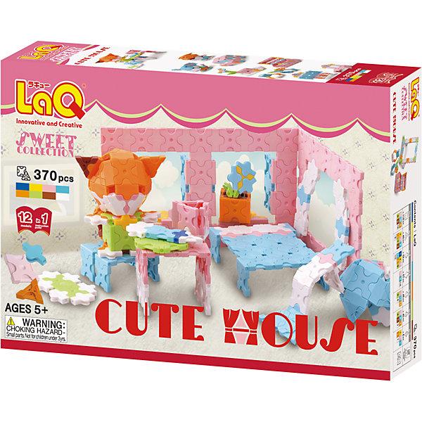 Конструктор Cute House, 370 деталей, LaQПластмассовые конструкторы<br>Конструктор Cute House состоит из 370 оригинальных деталей, из которых ребенок с легкостью сможет собрать кошечку и домик для нее. В наборе имеются яркие детали с формой треугольника и квадрата, с пятью удобными боковыми креплениями, которые можно соединять как прямо, так и с наклоном. Игра с конструктором развивает воображение, мелкую моторику и усидчивость.  Соединять детали невероятно просто, что позволит ребенку играть с удовольствием!<br><br>Дополнительная информация:<br>В наборе: 370 деталей, инструкция для 3D моделей<br>Материал: пластик<br>Размер упаковки: 24х16х4 см<br>Конструктор Cute House можно приобрести в нашем интернет-магазине.<br>Ширина мм: 240; Глубина мм: 160; Высота мм: 40; Вес г: 214; Возраст от месяцев: 60; Возраст до месяцев: 1188; Пол: Унисекс; Возраст: Детский; SKU: 4944581;