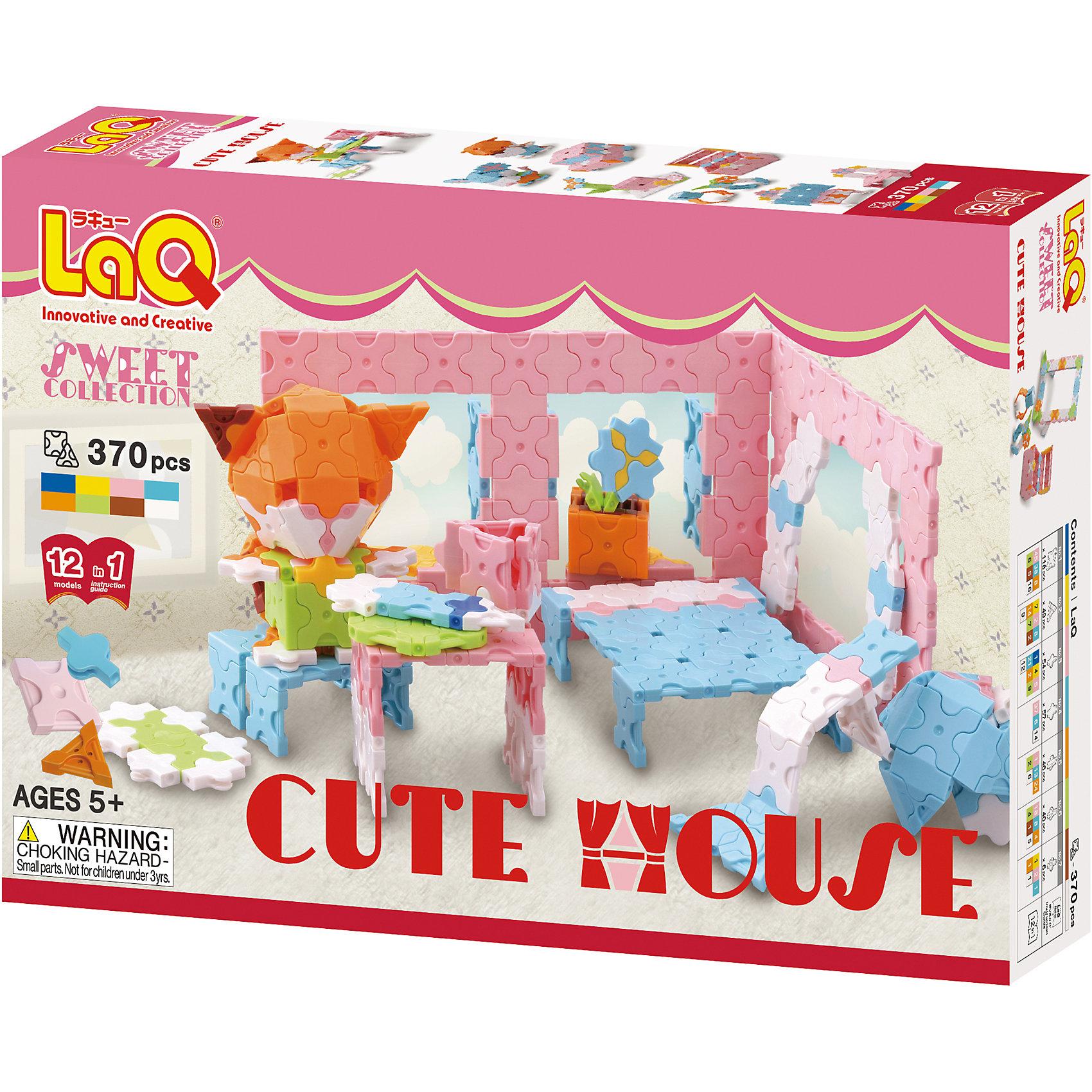 LaQ Конструктор Cute House, 370 деталей, LaQ конструктор laq 1818 mini pteranodon